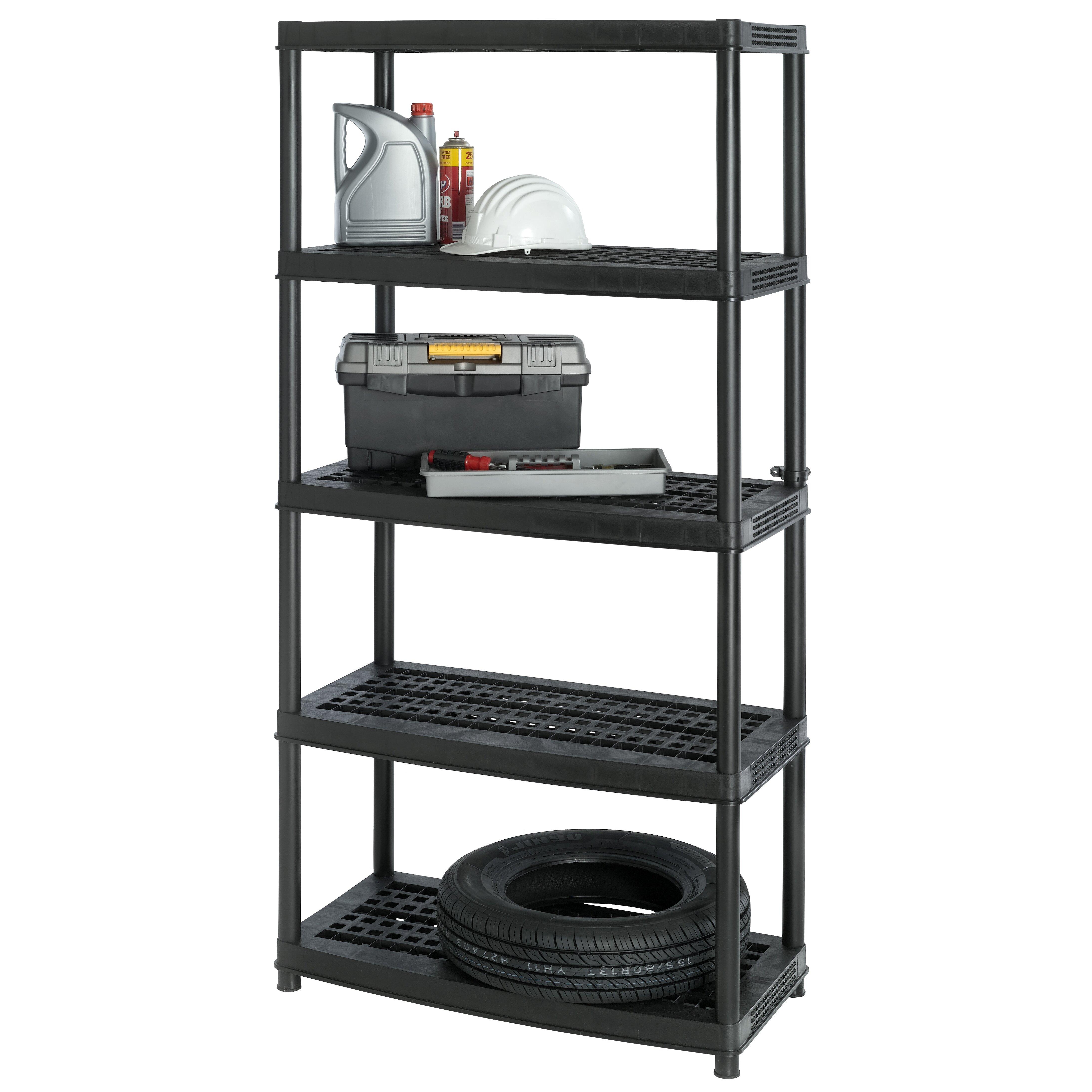 Keter Utility 72 Quot H Five Shelf Shelving Rack Unit