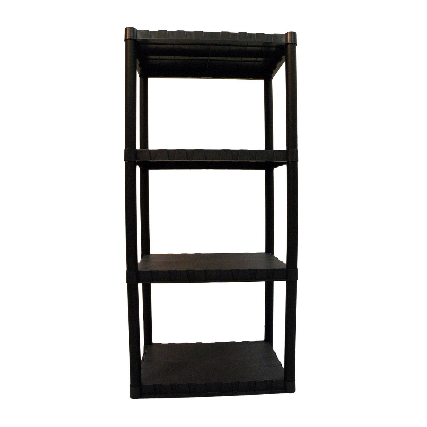 Keter freestanding plastic storage 49 h four shelf - Etagere de rangement pour garage ...
