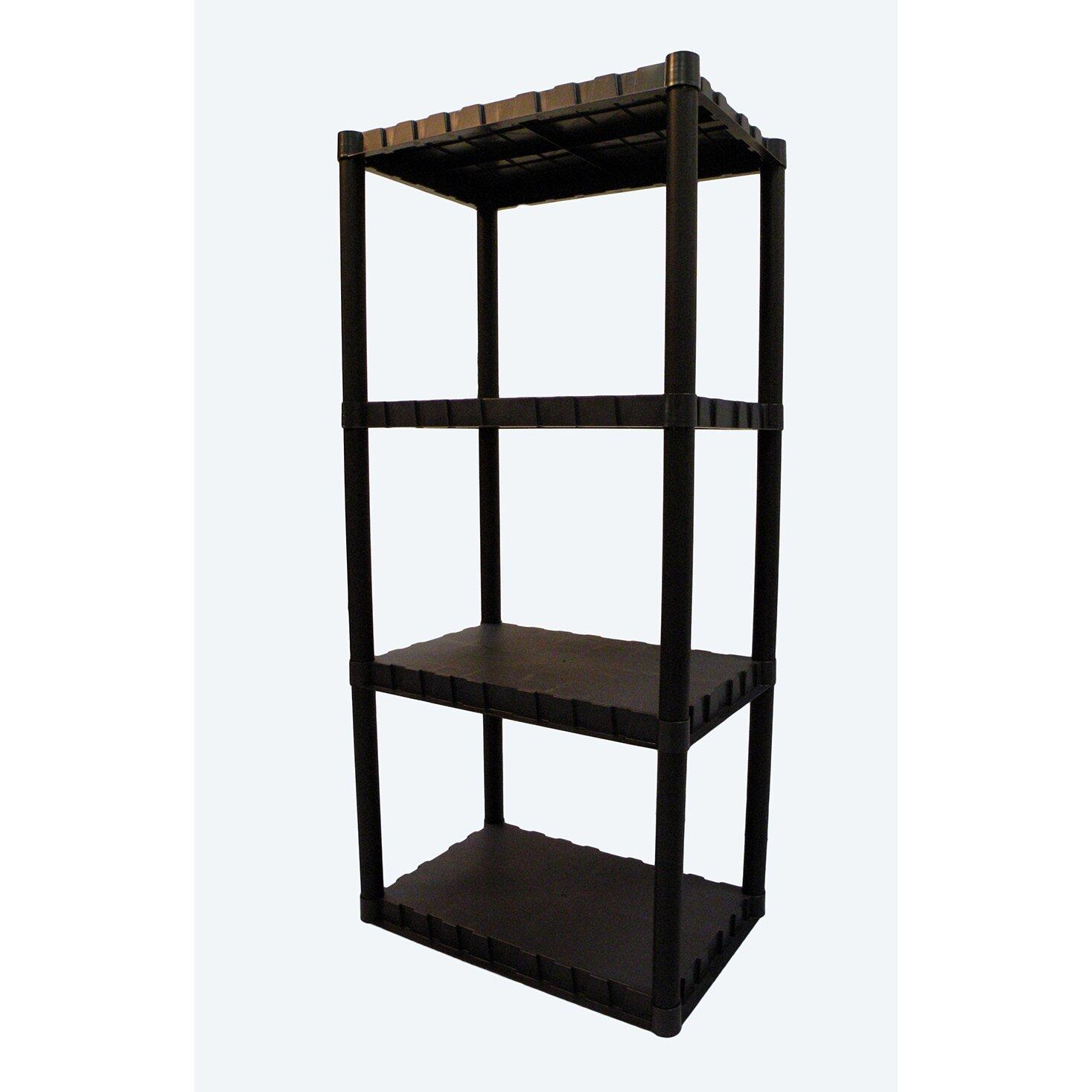Keter Freestanding Plastic Storage 49 Quot H Four Shelf