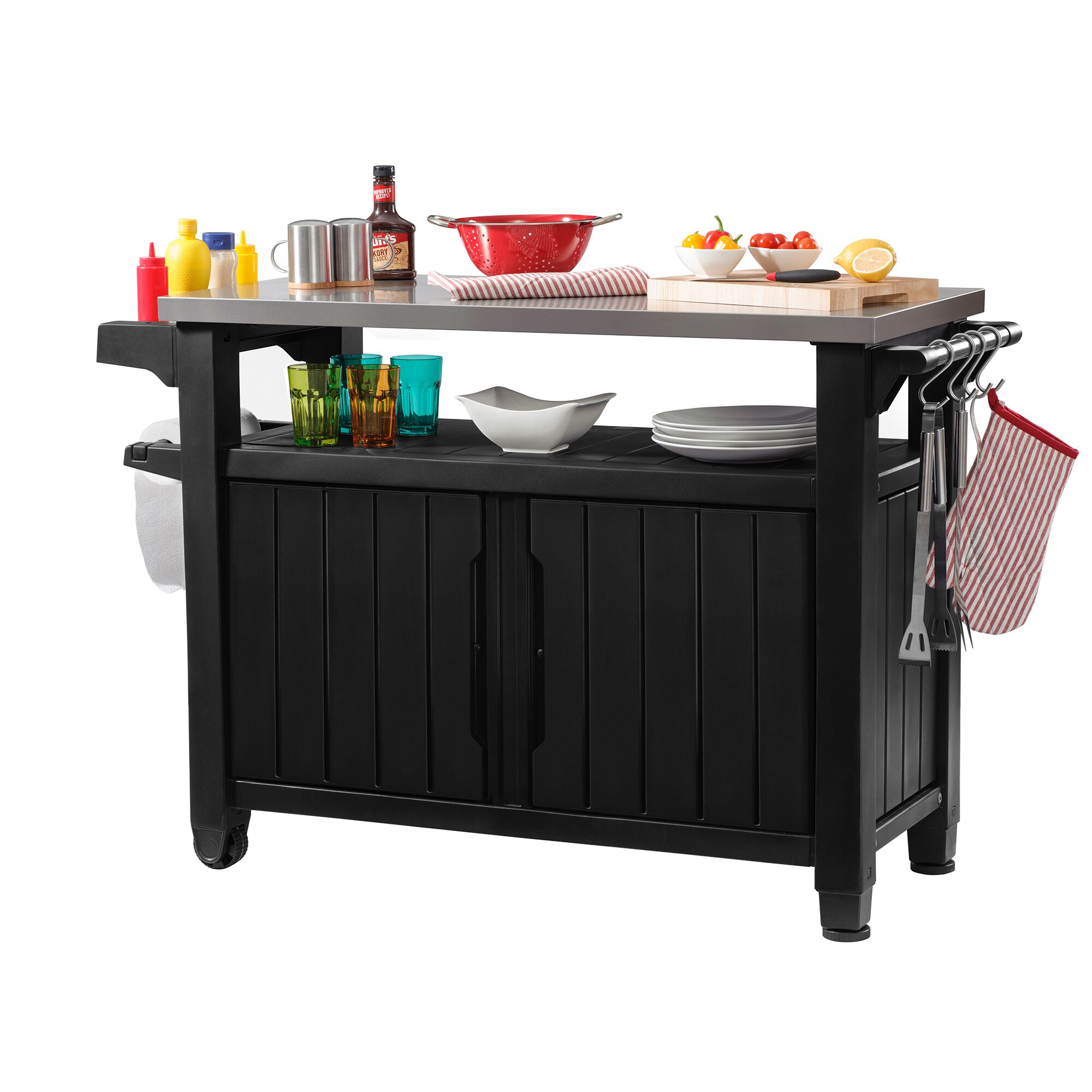 Keter unity bar serving cart reviews wayfair for Armoire exterieur