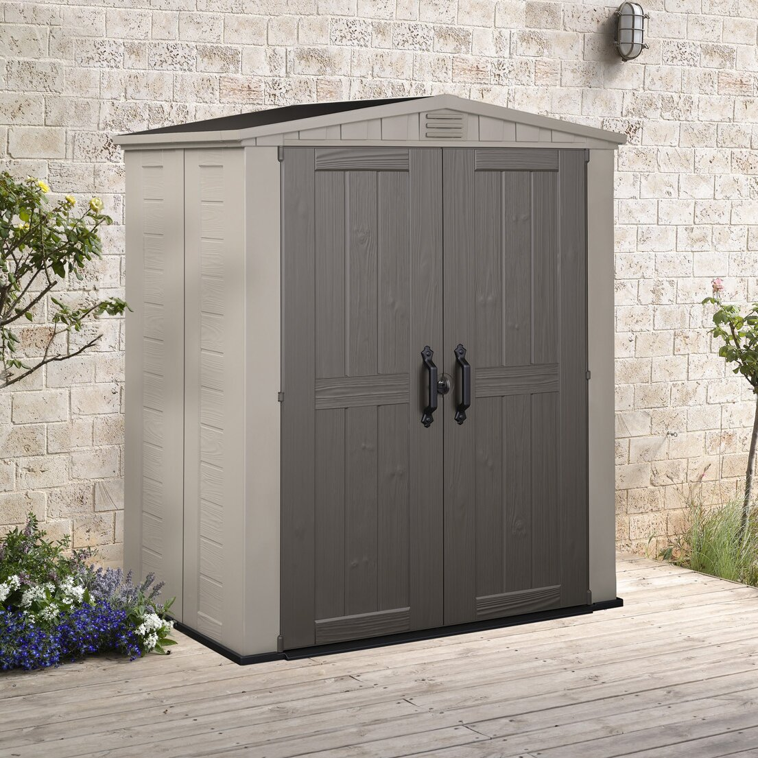 Keter Factor 6 Ft W X 3 Ft D Resin Storage Shed