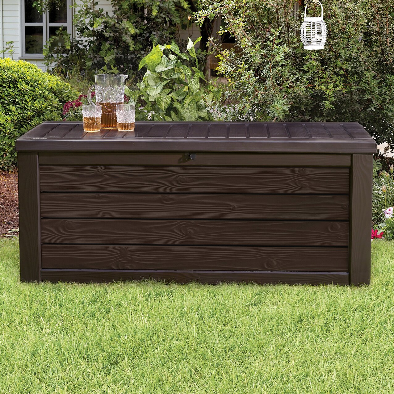Keter Westwood 150 Gallon Resin Deck Box Amp Reviews Wayfair