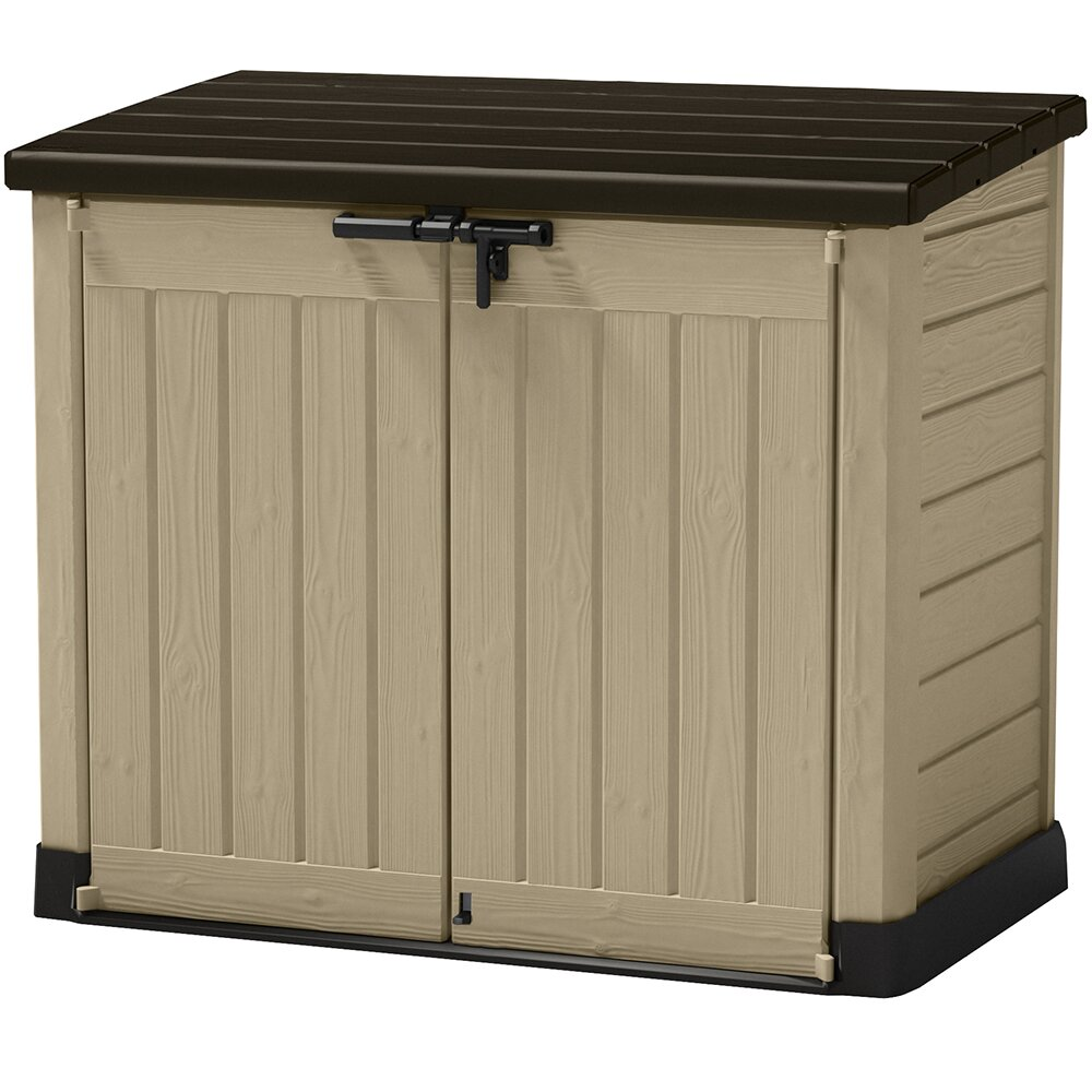keter store it out max 5 ft w x 3 ft d resin storage shed reviews wayfair. Black Bedroom Furniture Sets. Home Design Ideas