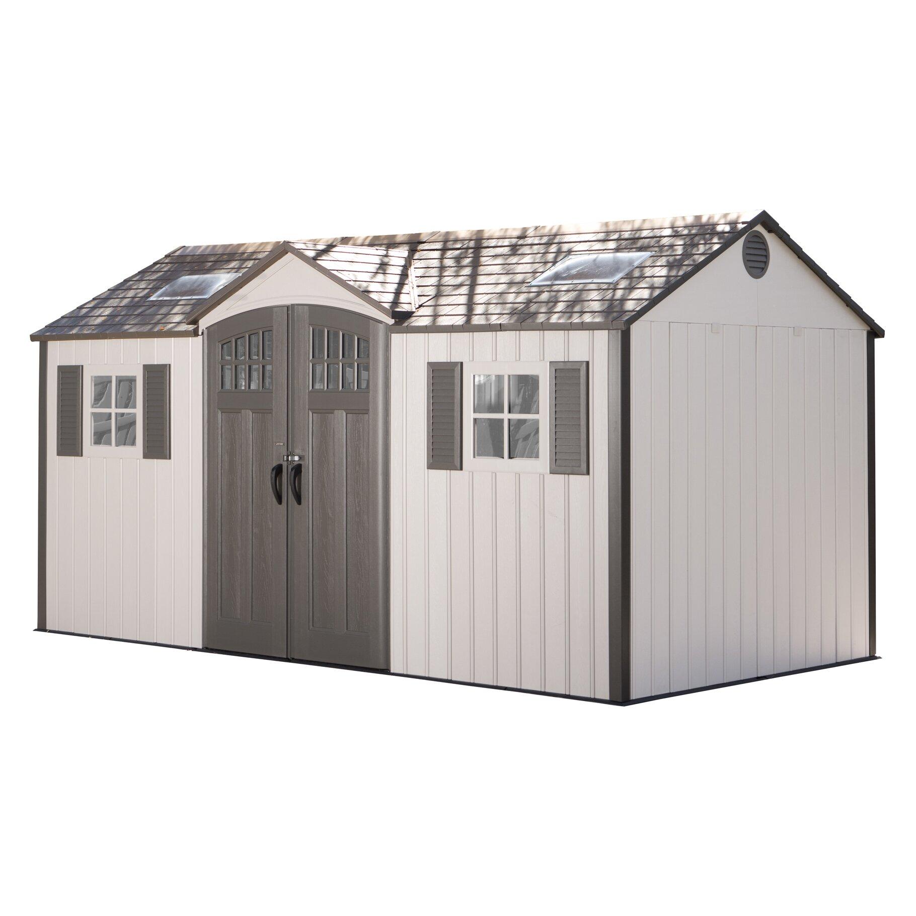 Lifetime 15 ft w x 8 ft d garden shed wayfair - Garden sheds x ...