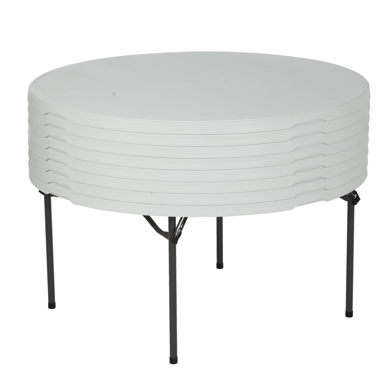 Folding Dining Tables Lifetime 60 Quot Round Folding Table Wayfair