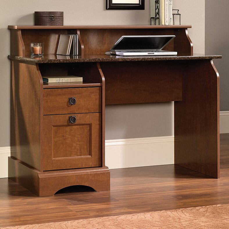 Sauder graham hill writing desk with storage drawers