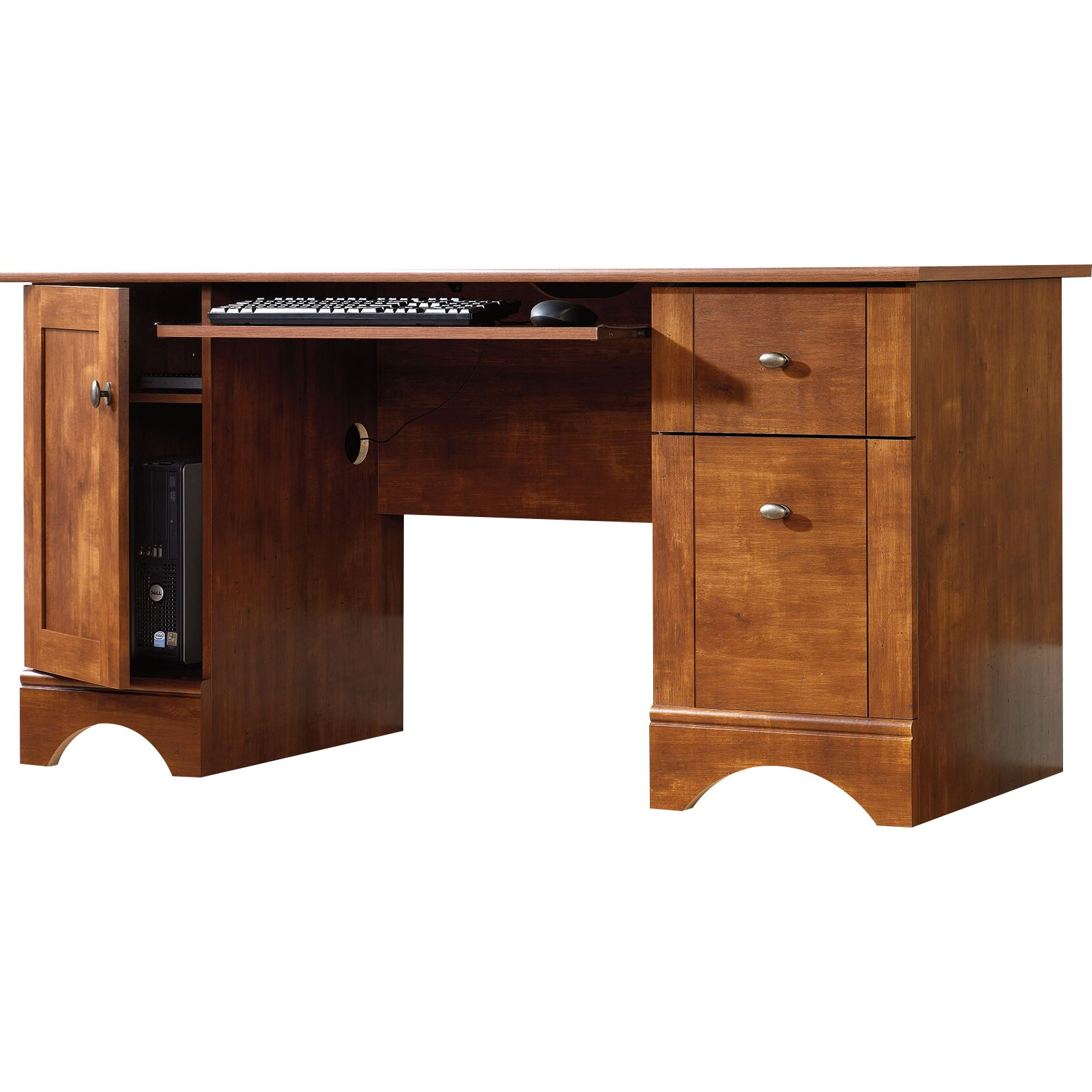 Sauder computer desk with 2 storage drawers reviews wayfair - Sauder office desk ...