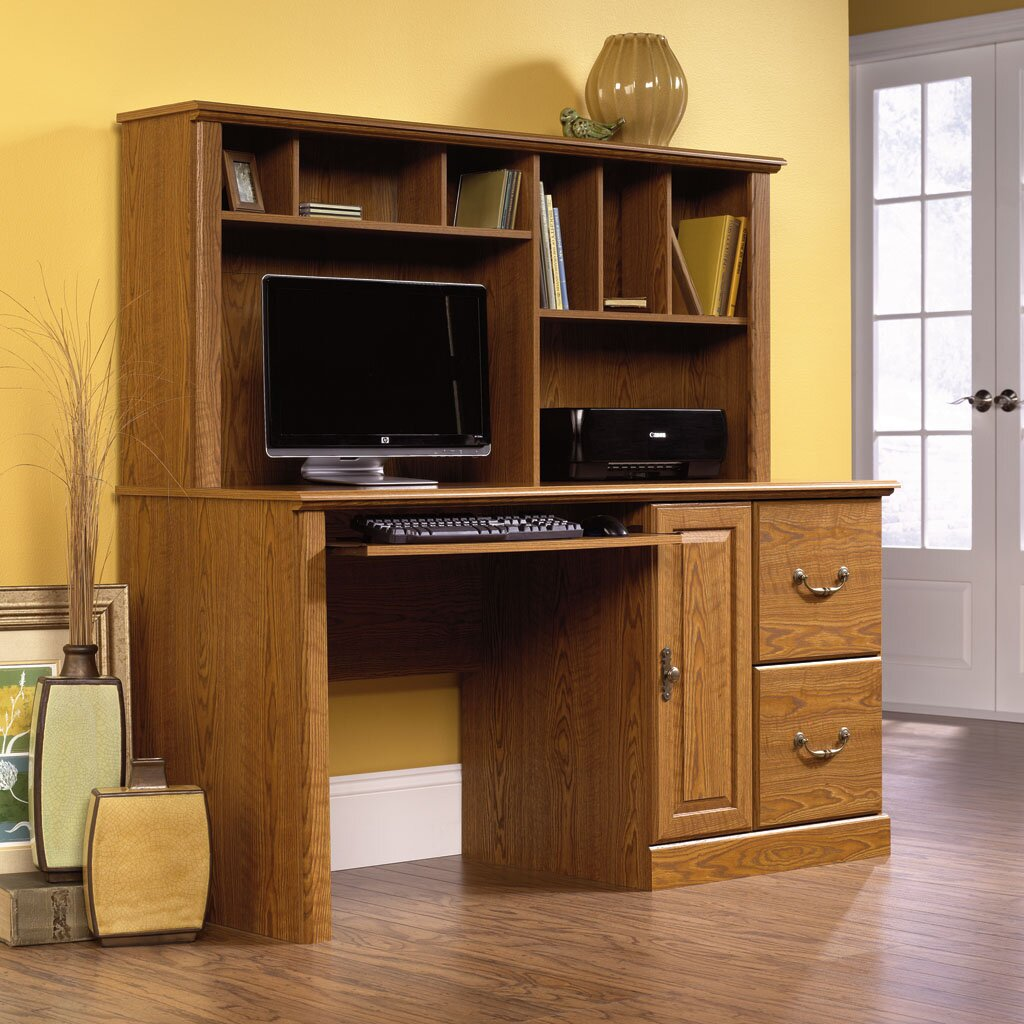 Mayfair Com: Sauder Orchard Hills Computer Desk With Hutch & Reviews