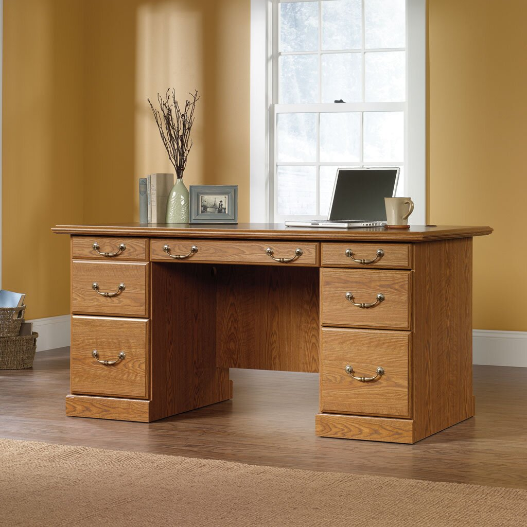 Sauder Orchard Hills Executive Desk Amp Reviews Wayfair