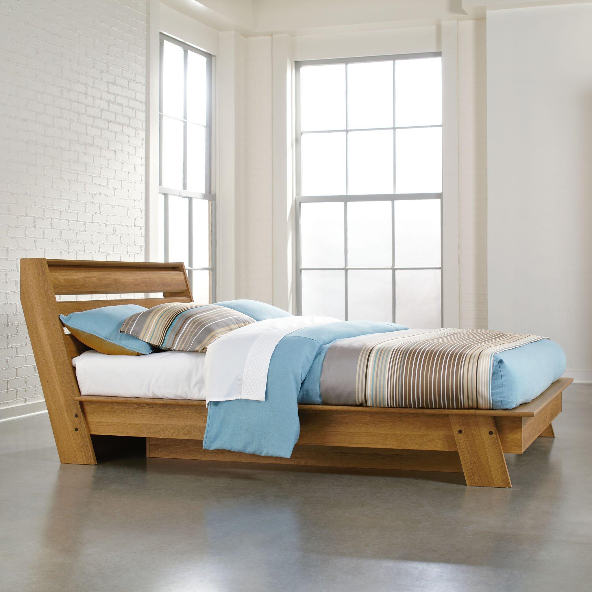 Sauder Queen Platform Bed Reviews Wayfair