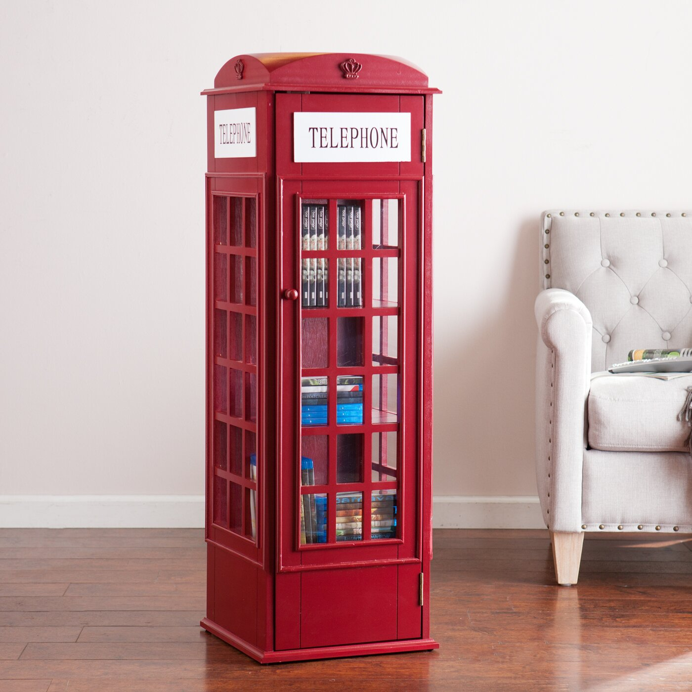 Mercury row angeles phone booth storage cabinet reviews wayfair - Kitchen booth with storage ...