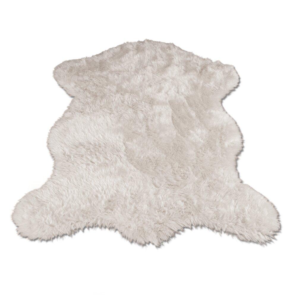 Walk On Me Polar Bear Pelt Faux Fur Shag Area Rug