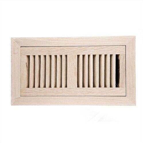 Image wood vents x white oak wood flush mount for Wood floor vent covers