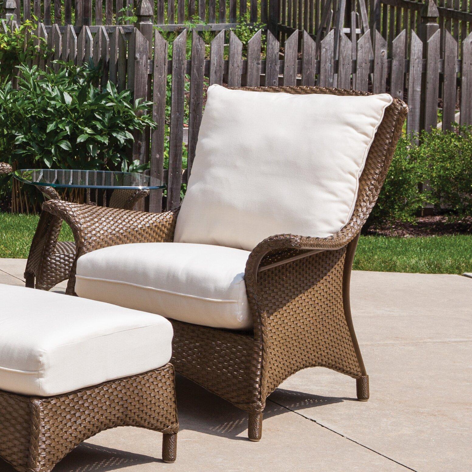 Lloyd Flanders Mandalay Windward Stripe Lounge Chair with Cushion