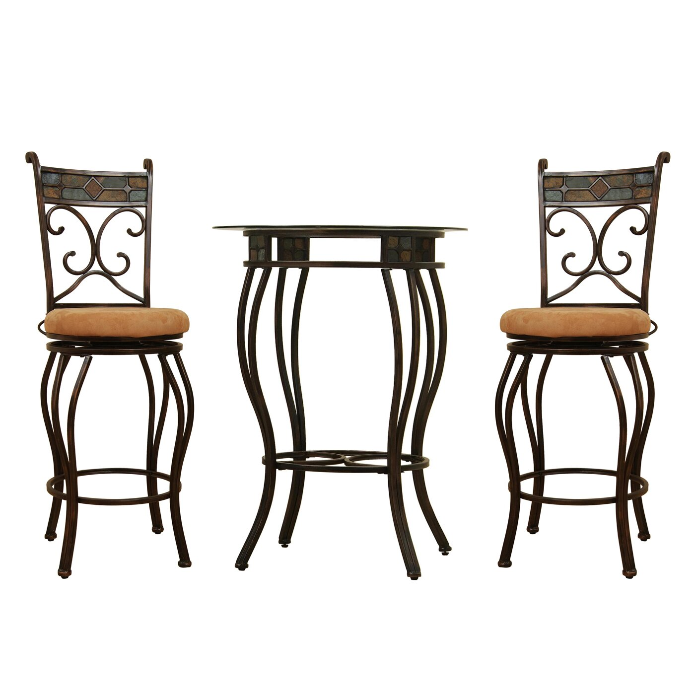 Boraam 3 Piece Beau Counter Height Pub Table Set Reviews Wayfair