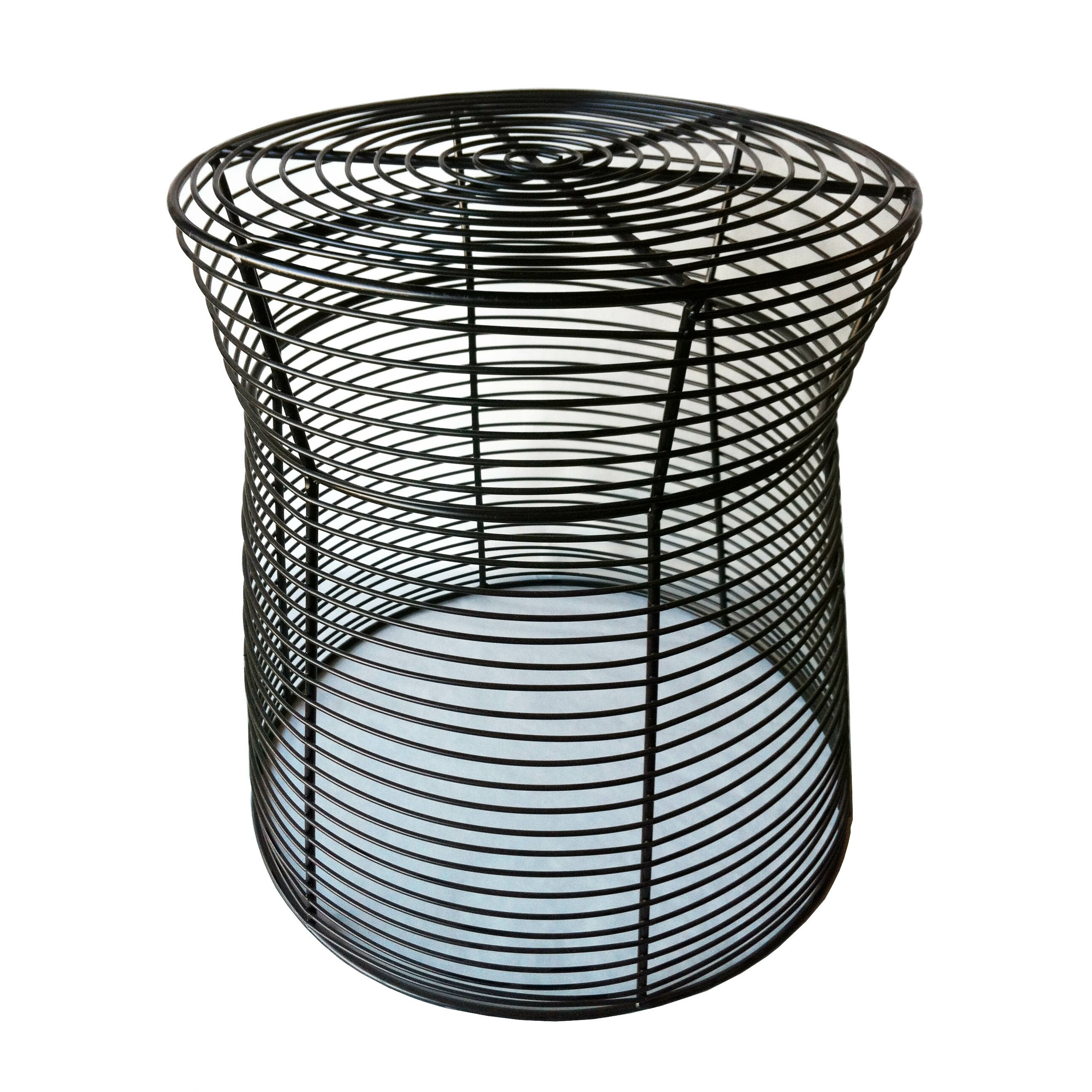 Pangaea metal wire stool or side table reviews wayfair for Garden stool side table