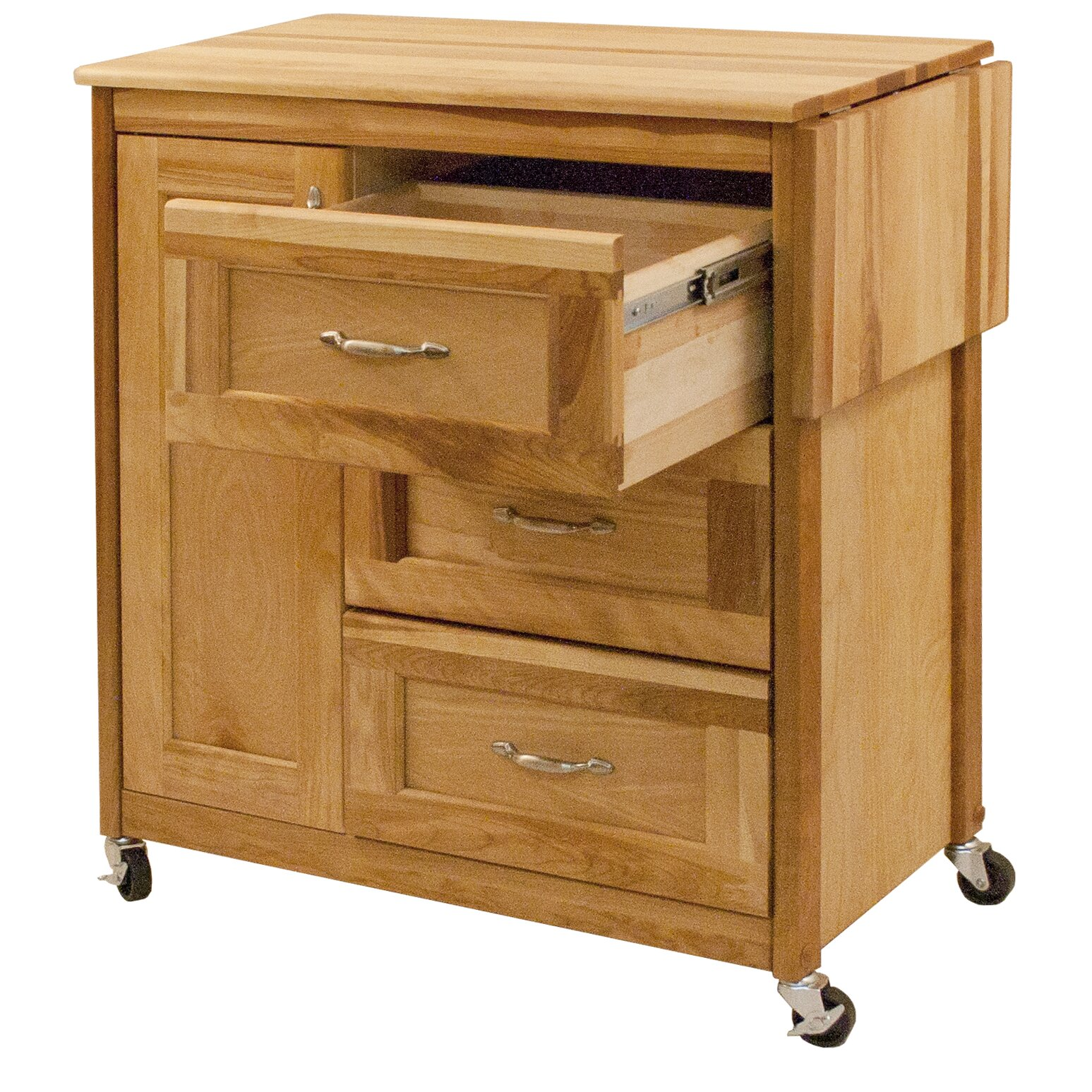 catskill craftsmen kitchen cart wayfair. Black Bedroom Furniture Sets. Home Design Ideas