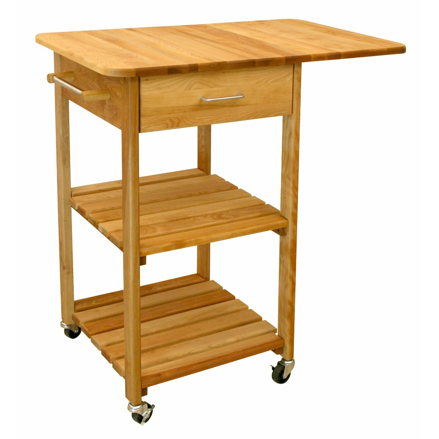 Catskill Craftsmen Kitchen Cart With Butcher Block Top