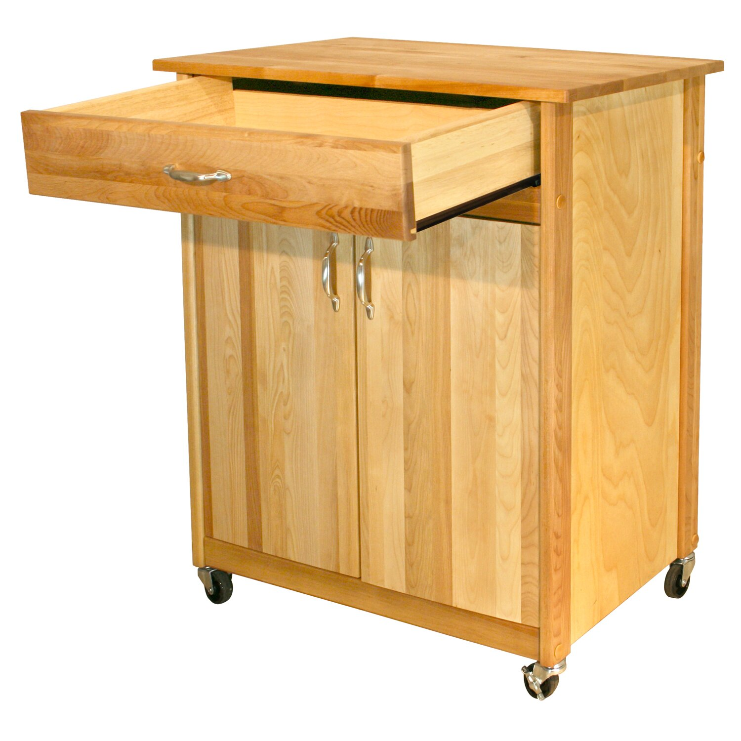 Catskill Craftsmen Mid Size Kitchen Cart With Butcher Block Top Reviews Wayfair