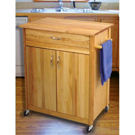 Catskill Craftsmen Kitchen Island With Butcher Block Top : Catskill Craftsmen Mid Size Kitchen Cart with Butcher Block Top & Reviews Wayfair
