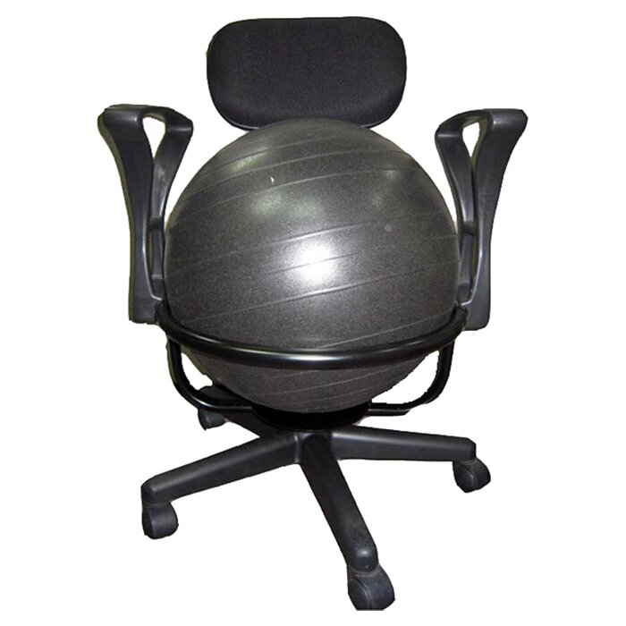 Stability Ball Office Chair Size: AeroMAT High-Back Exercise Ball Chair & Reviews