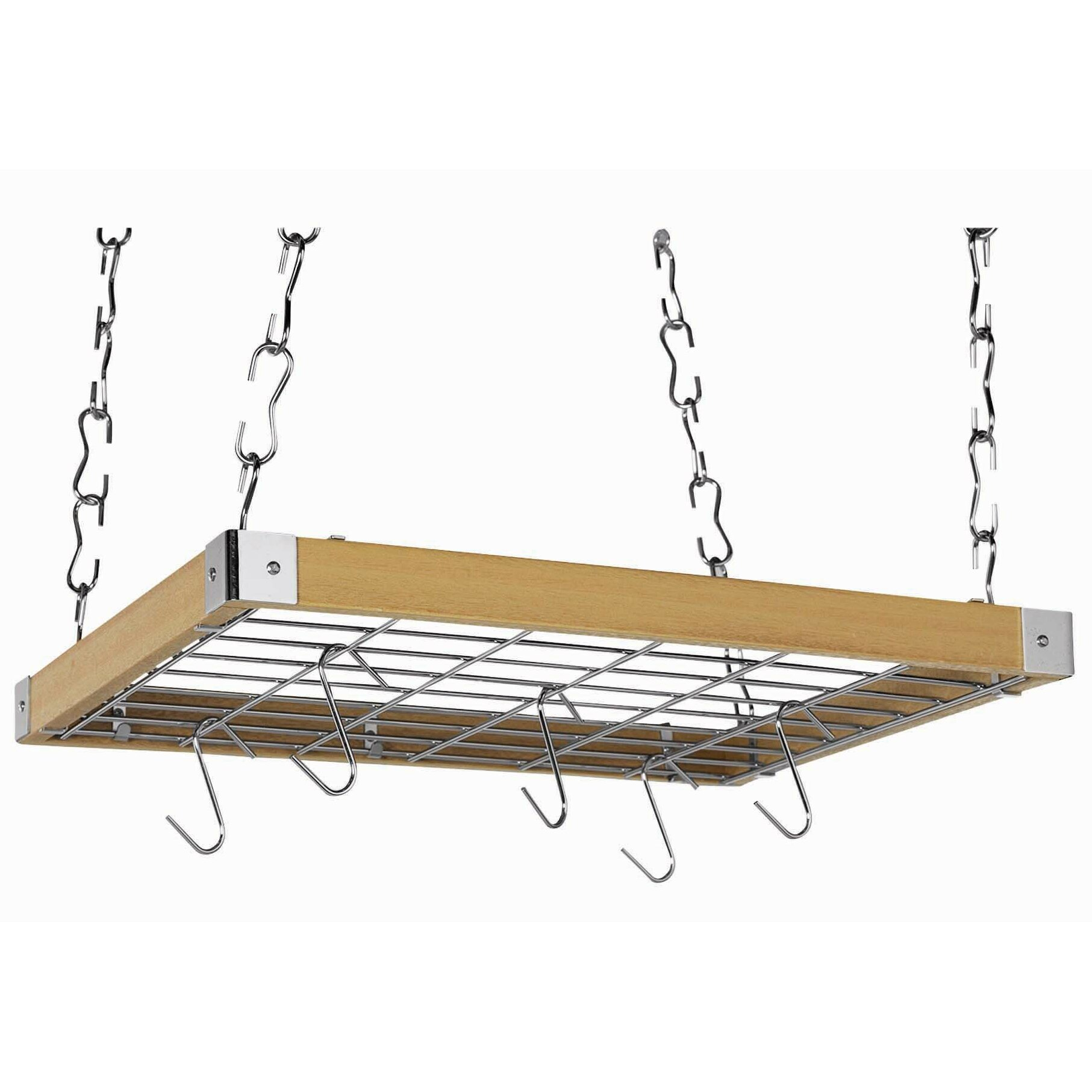 Concept Housewares Rectangular Ceiling Mounted Pot Rack