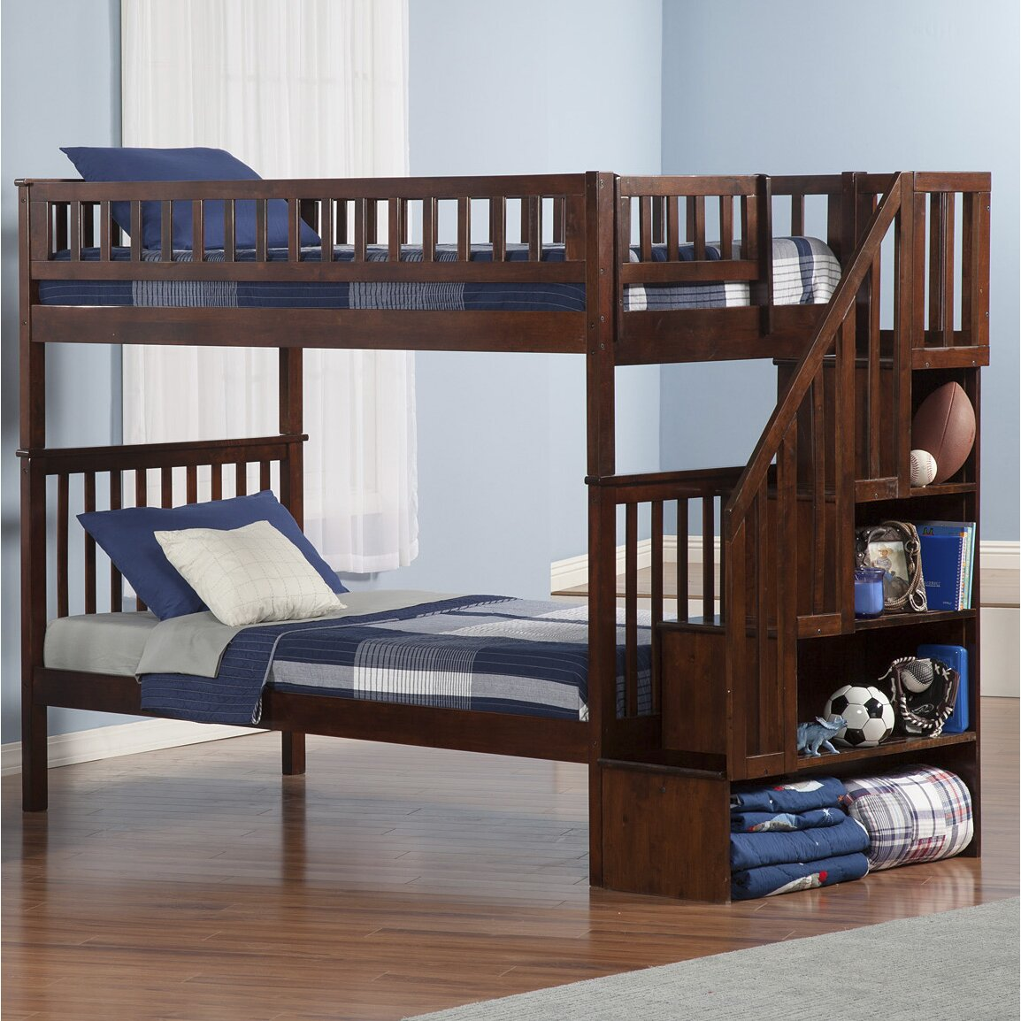 Atlantic Furniture Woodland Twin Bunk Bed Reviews Wayfair