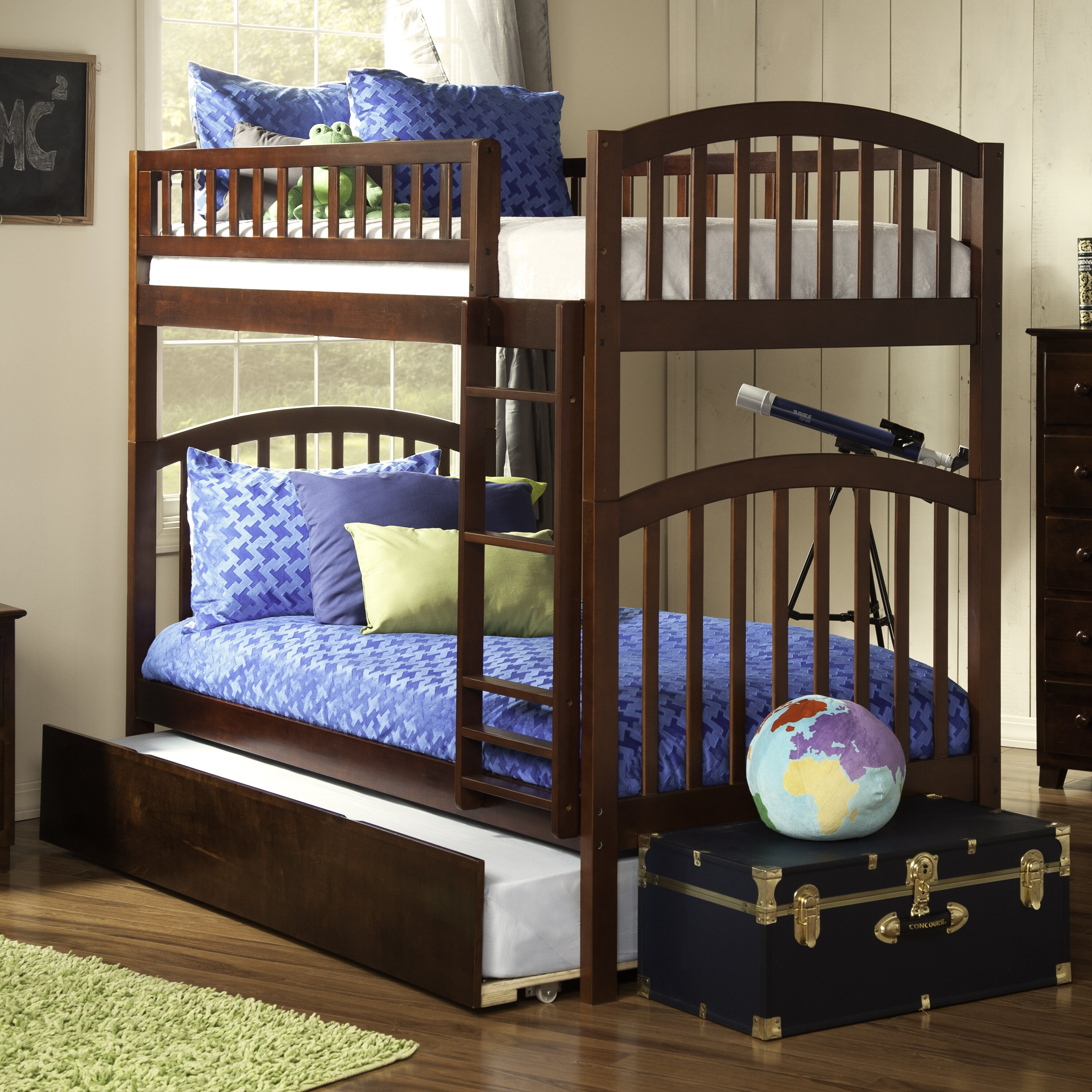 atlantic furniture richland twin bunk bed reviews wayfair. Black Bedroom Furniture Sets. Home Design Ideas