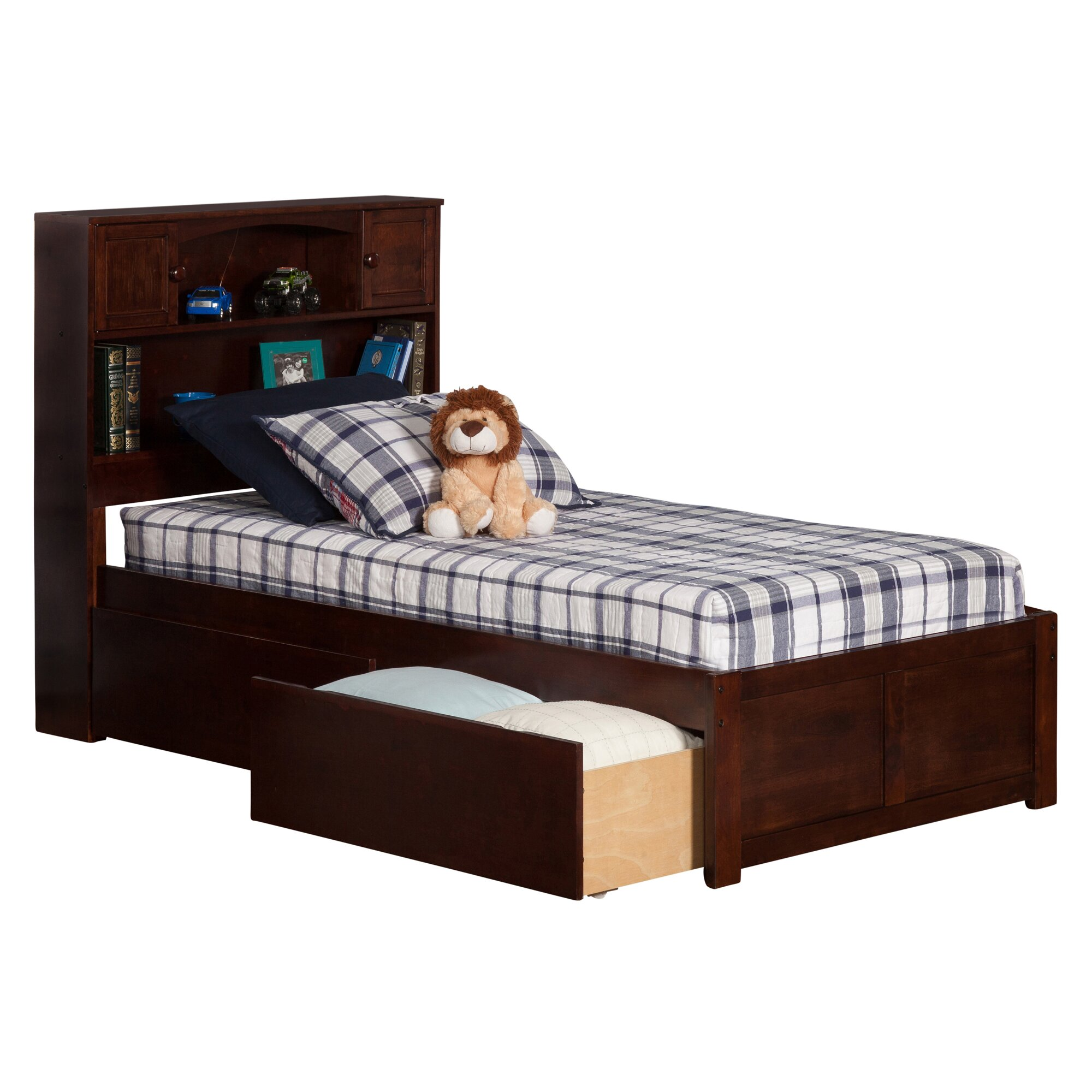 atlantic furniture newport extra long twin platform bed with storage reviews wayfair. Black Bedroom Furniture Sets. Home Design Ideas