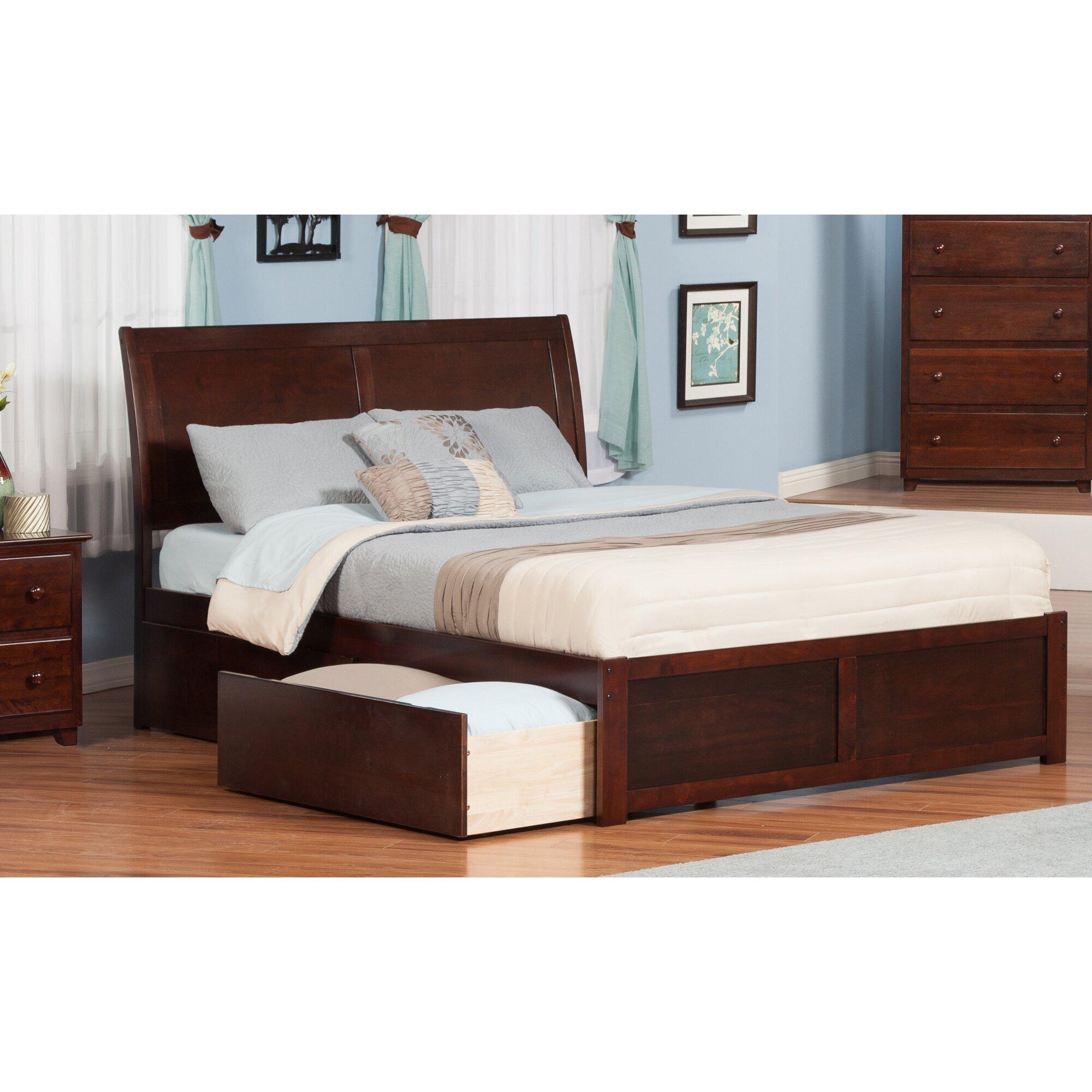 atlantic furniture portland king storage platform bed reviews wayfair. Black Bedroom Furniture Sets. Home Design Ideas