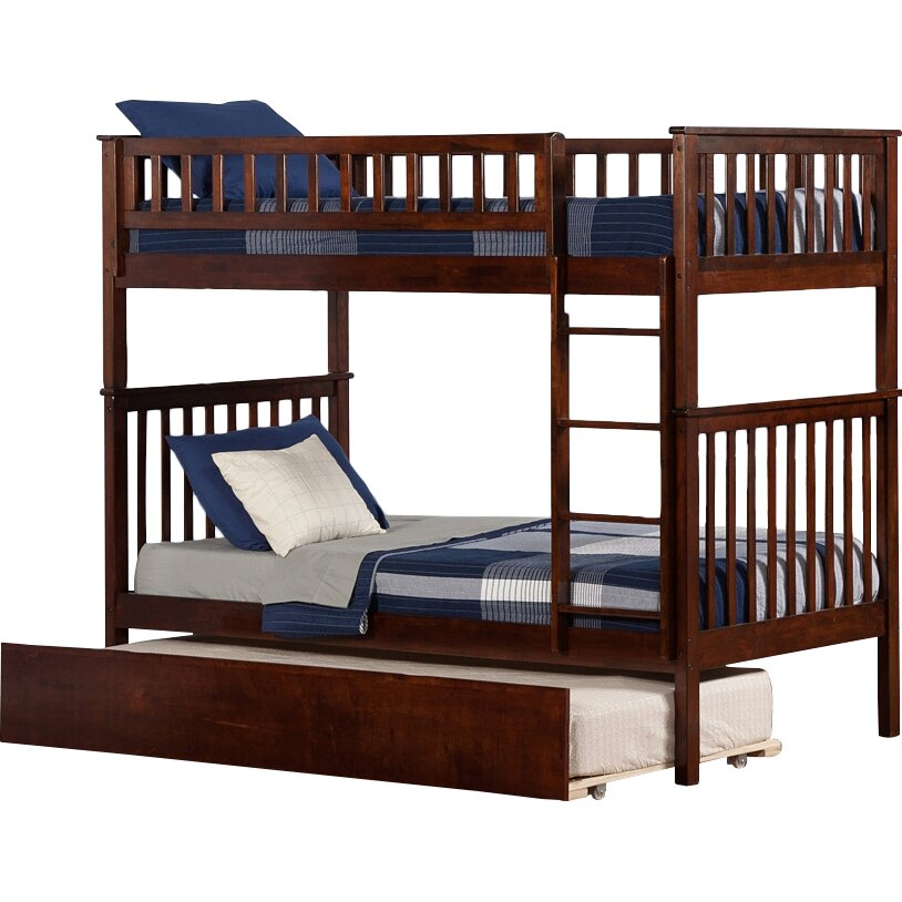 Atlantic Furniture Woodland Twin Over Twin Bunk Bed With Trundle Reviews Wayfair