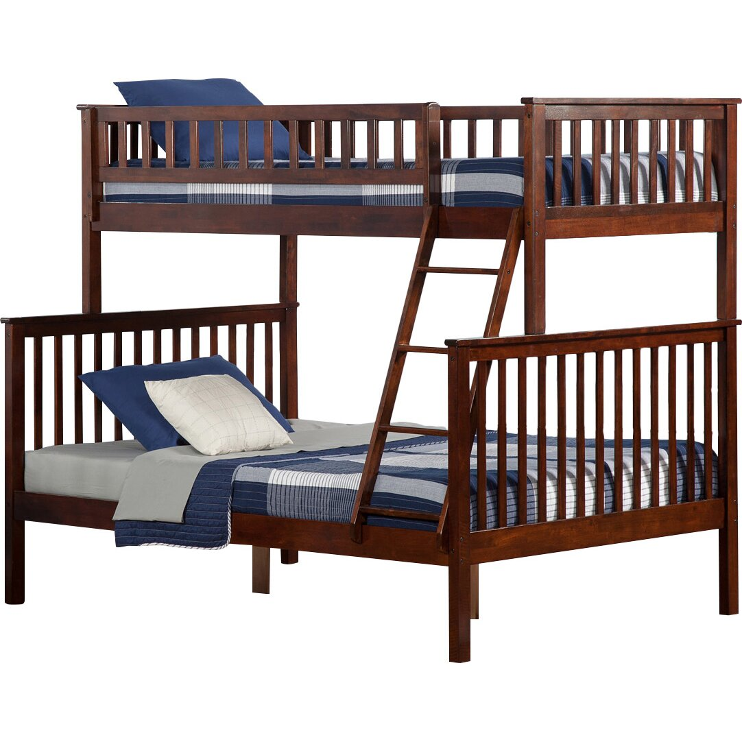 Atlantic Furniture Woodland Twin Over Full Bunk Bed Reviews Wayfair