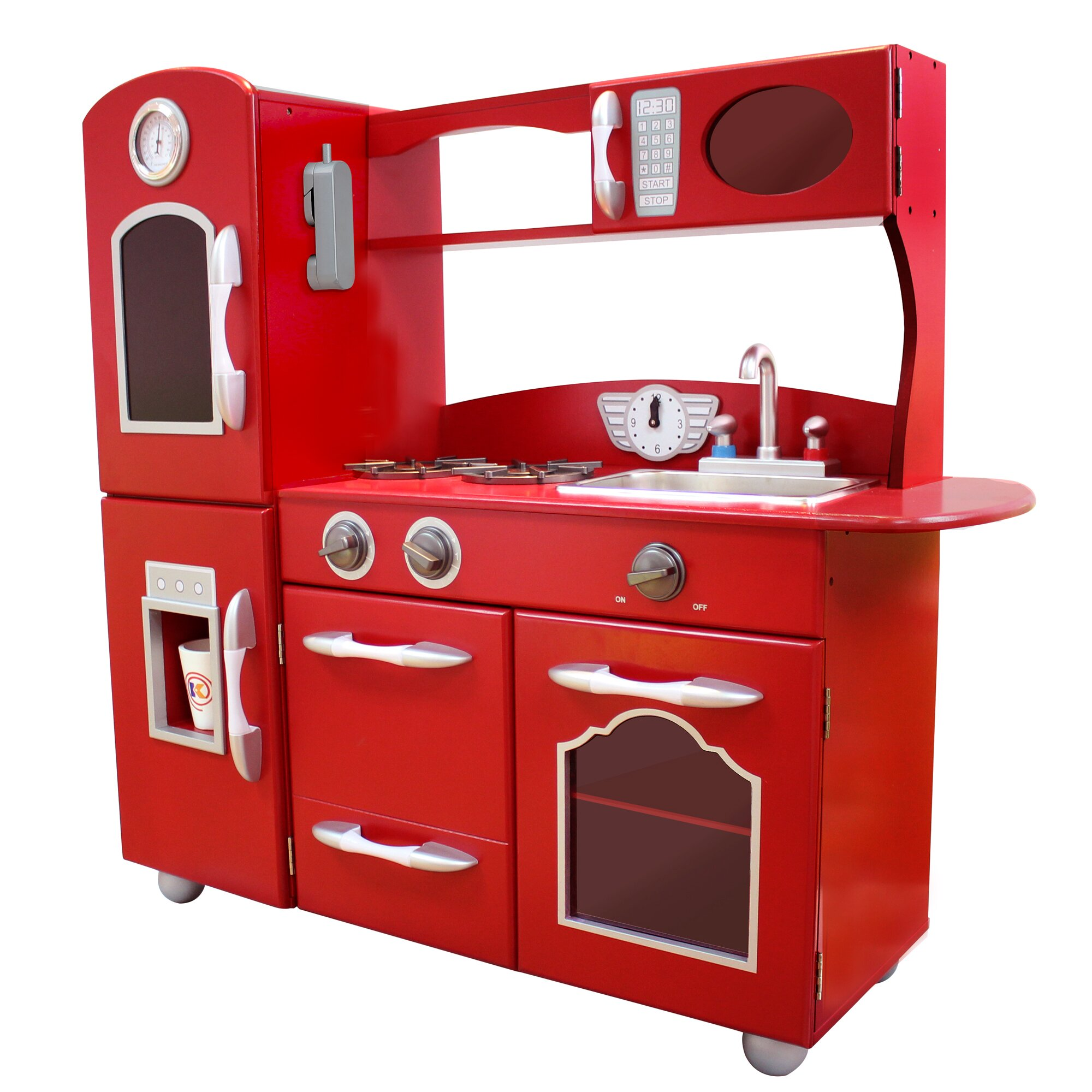 Children Kitchen Set: Teamson Kids Wooden Play Kitchen Set & Reviews
