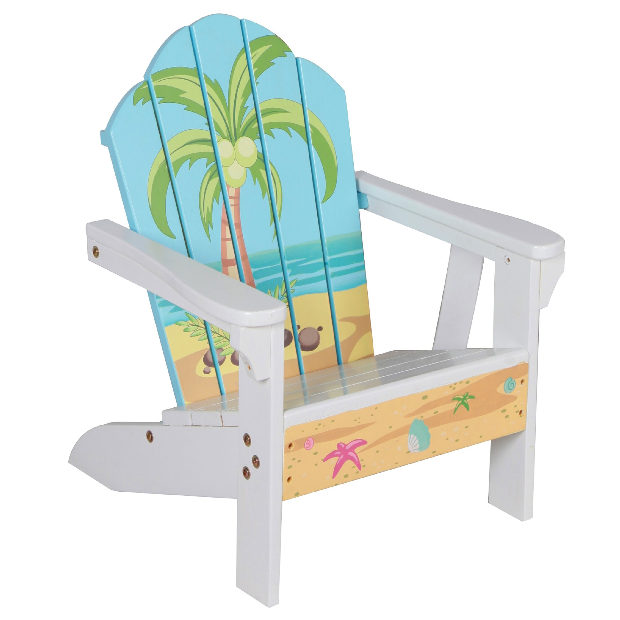 Teamson kids winland palm tree outdoor wood table chair for White kids chair