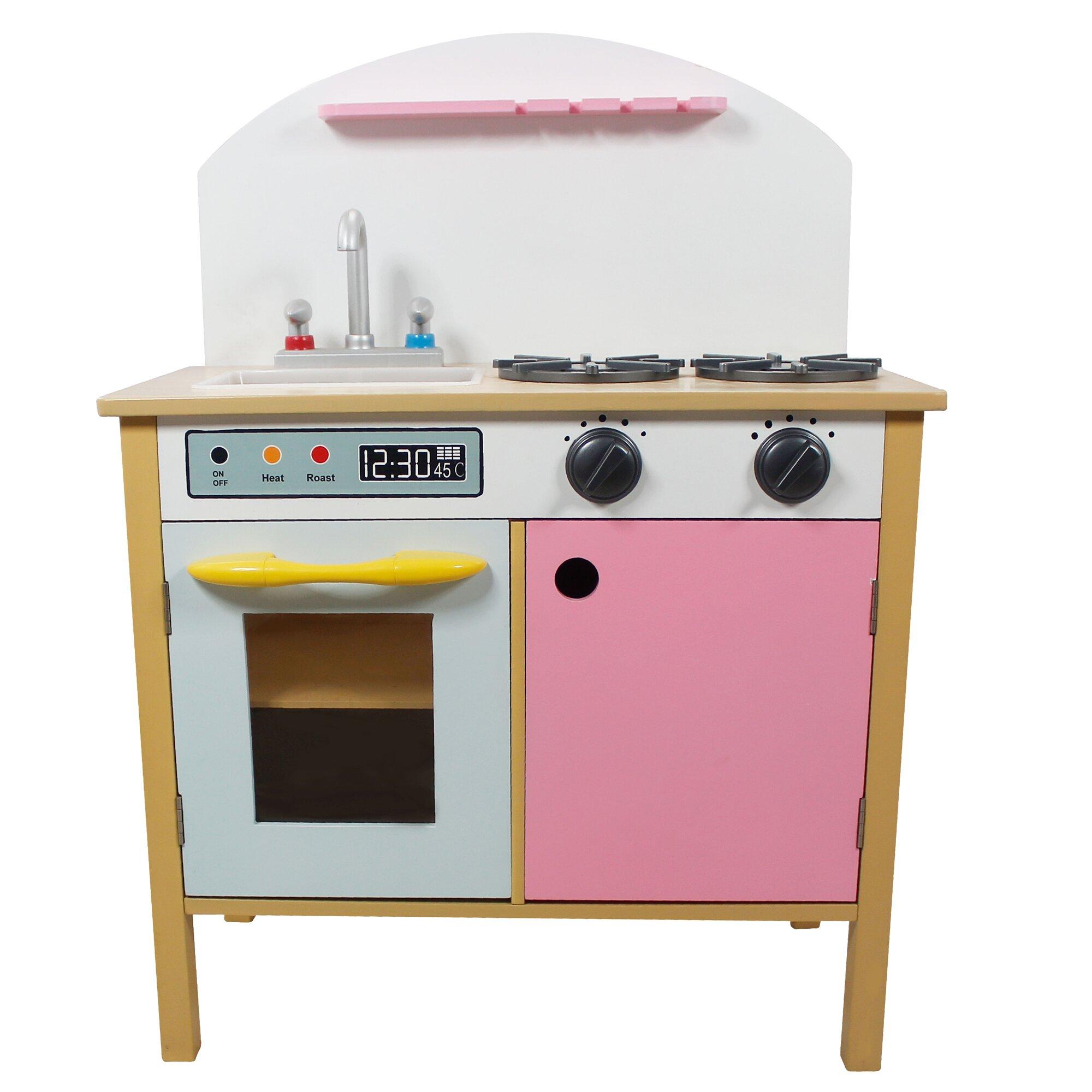 Teamson Kids Pretend Play Pink Kitchen Reviews Wayfair