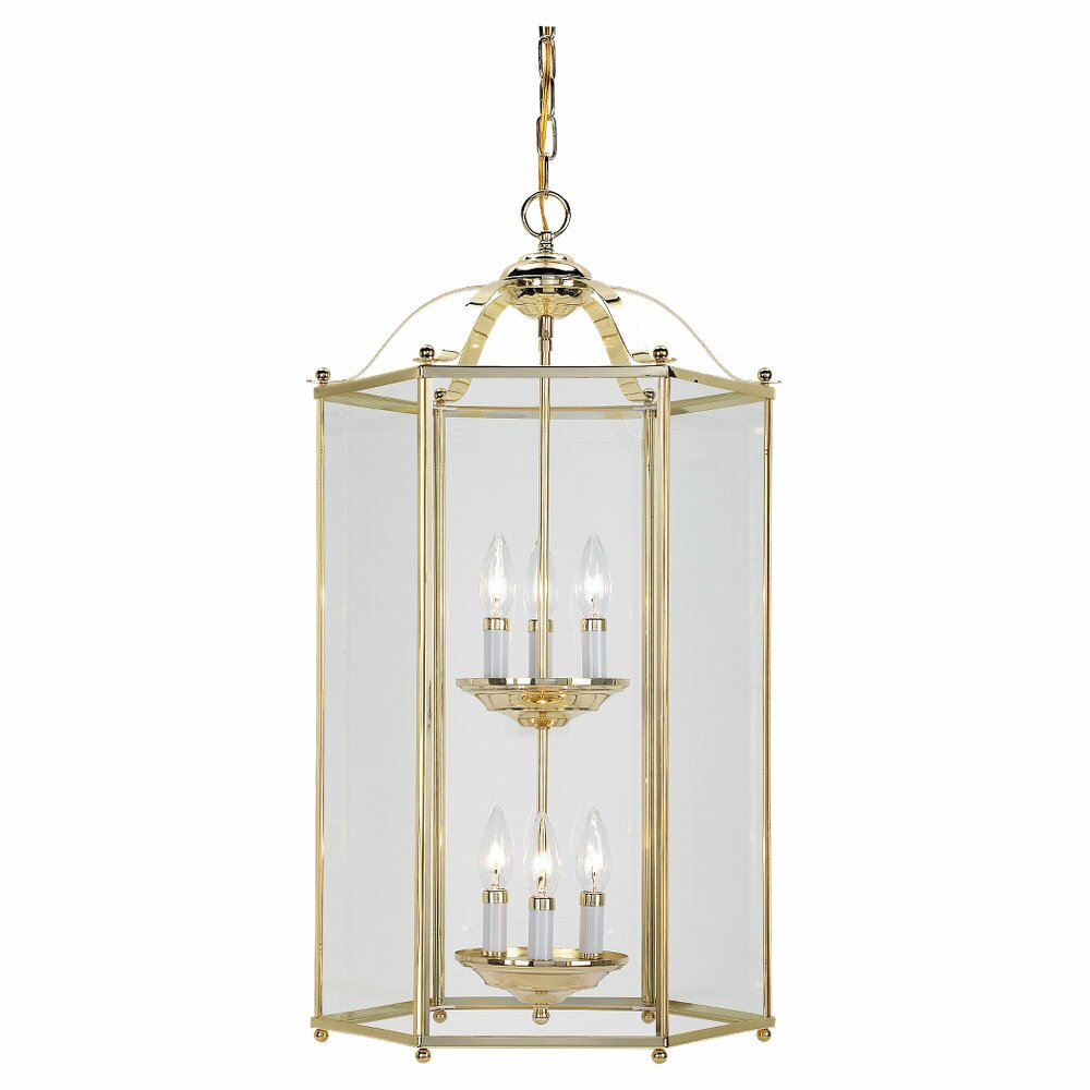 Sea Gull Lighting 6 Light Foyer Pendant Amp Reviews Wayfair
