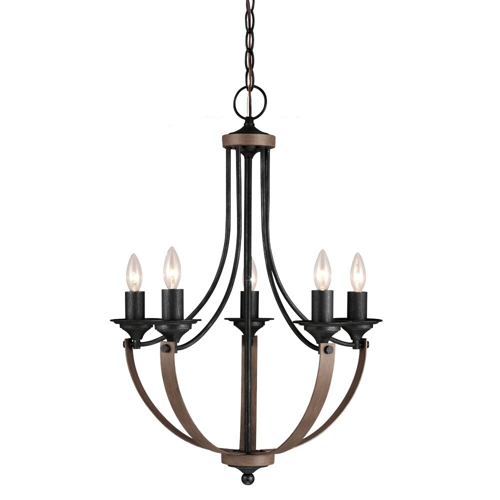 Sea gull lighting corbeille 5 light candle chandelier for Dining room 5 light chandelier