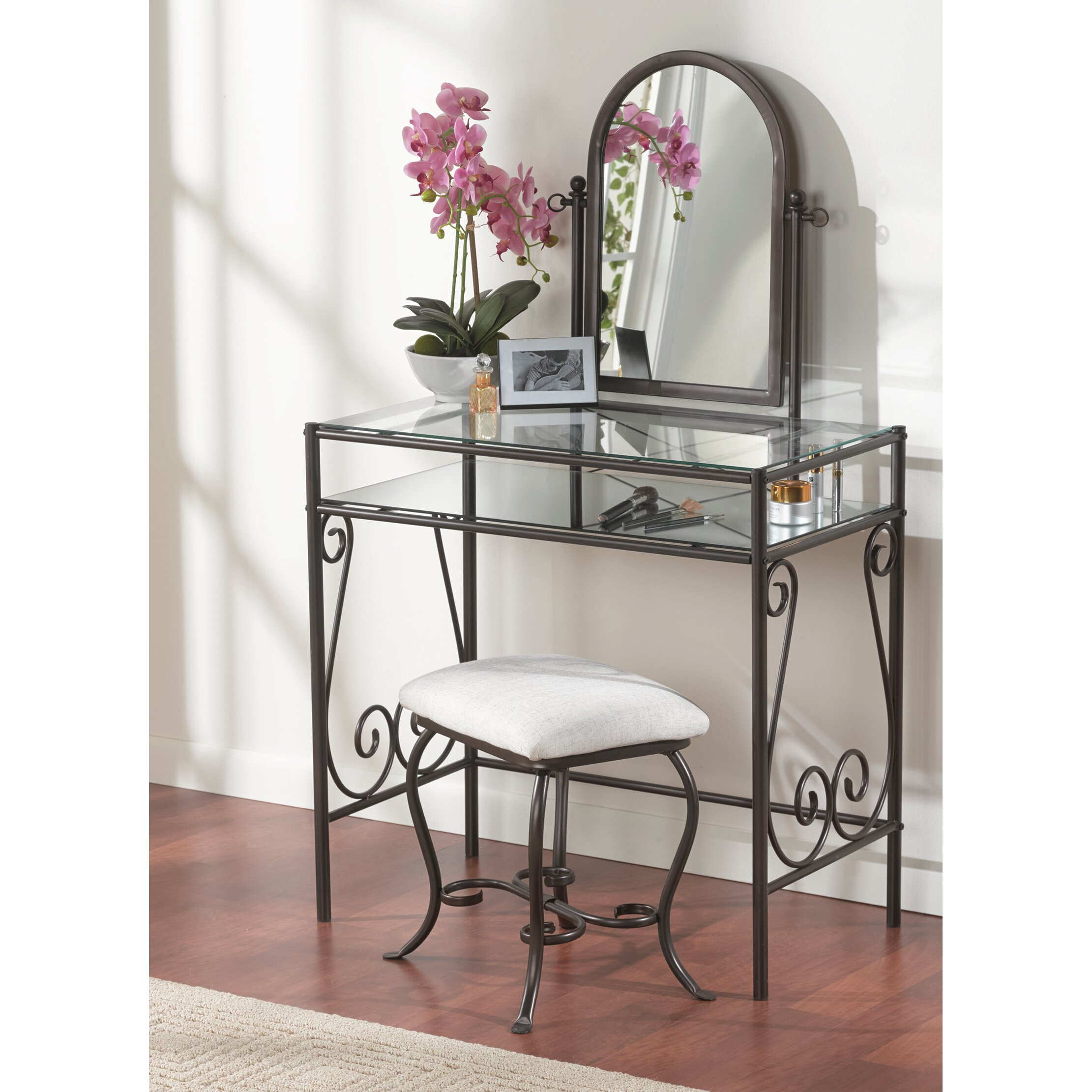 Linon Vanity Set: Linon Clarisse Vanity Set & Reviews