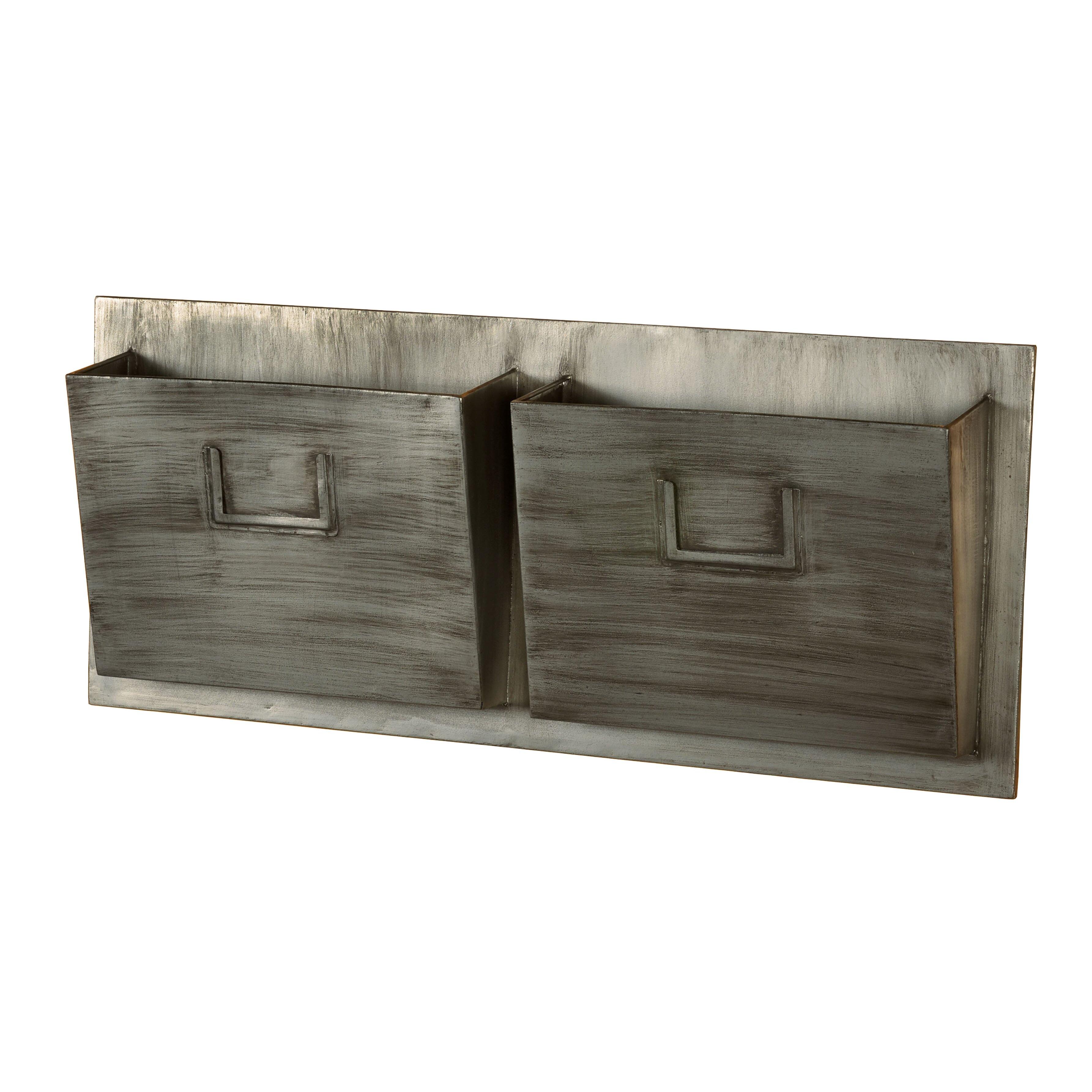 Linon Industrial Wall Mounted Mailbox Amp Reviews Wayfair