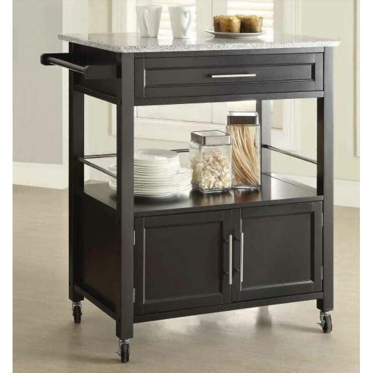 Linon Kitchen Cart With Granite Top Reviews Wayfair