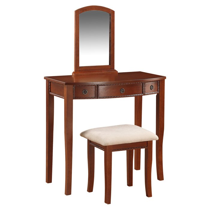 Linon Jackson Vanity Set With Mirror Reviews: Linon Molly Vanity Set With Mirror & Reviews