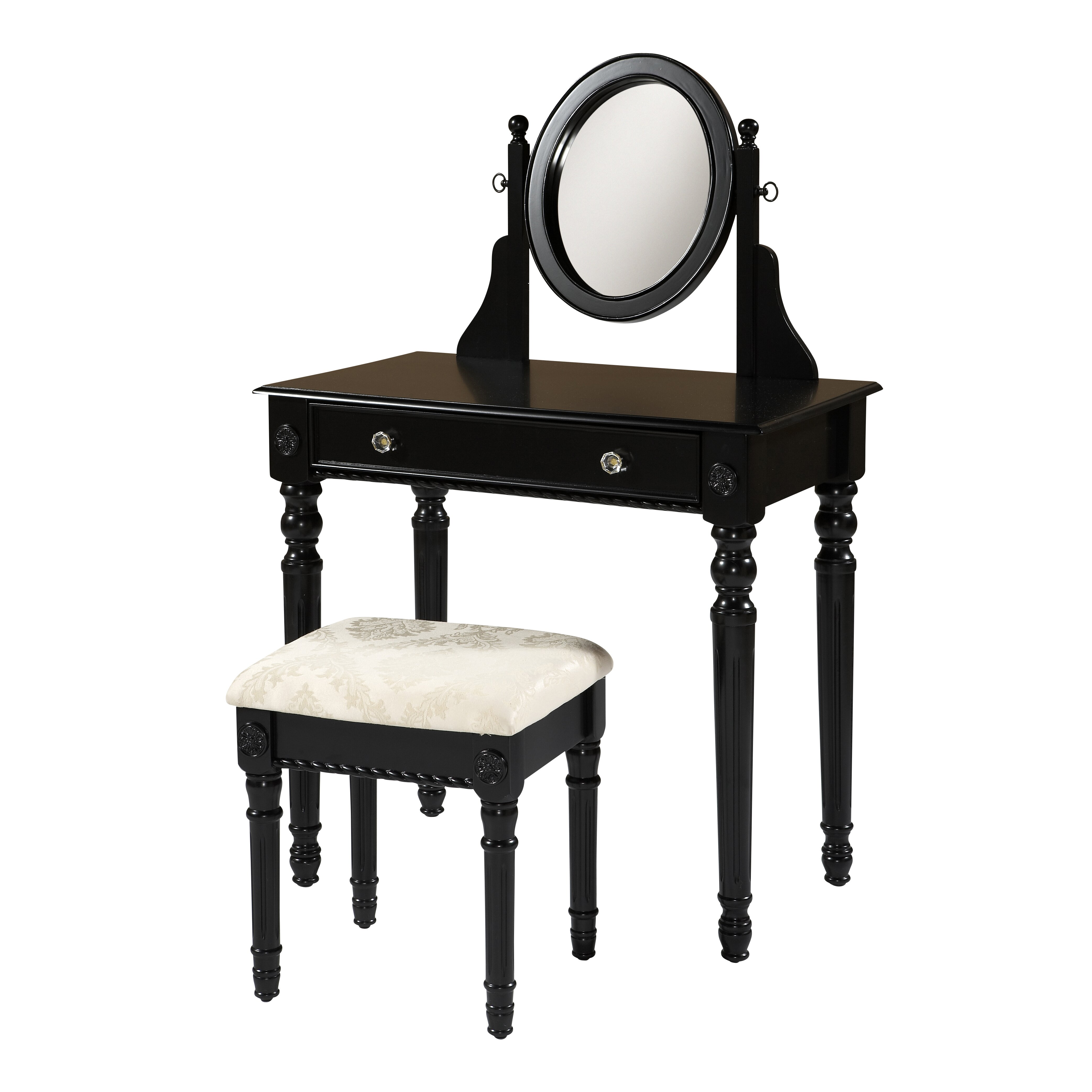 Linon Lorraine Vanity Set With Mirror Reviews Wayfair