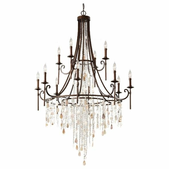 Murray Feiss Foyer Lighting: Feiss Cascade 12 Light Chandelier & Reviews