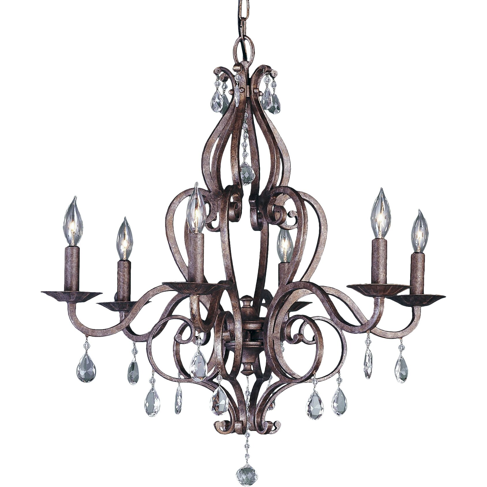 Murray Feiss Fusion Collection: Feiss Mademoiselle 6 Light Chandelier & Reviews