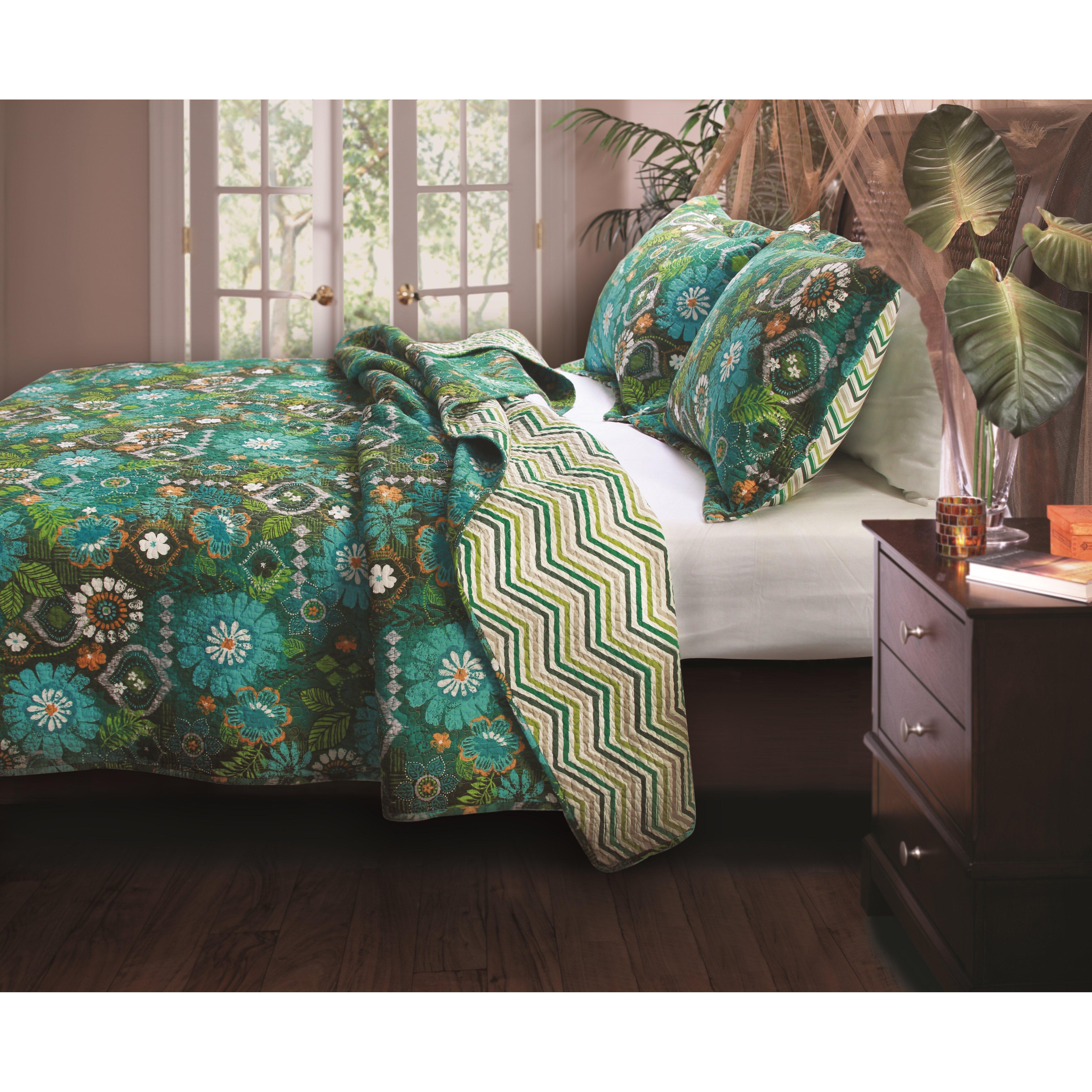 Inspiration Photo Tiki Hut: Greenland Home Fashions Tiki Hut Reversible Quilt Set