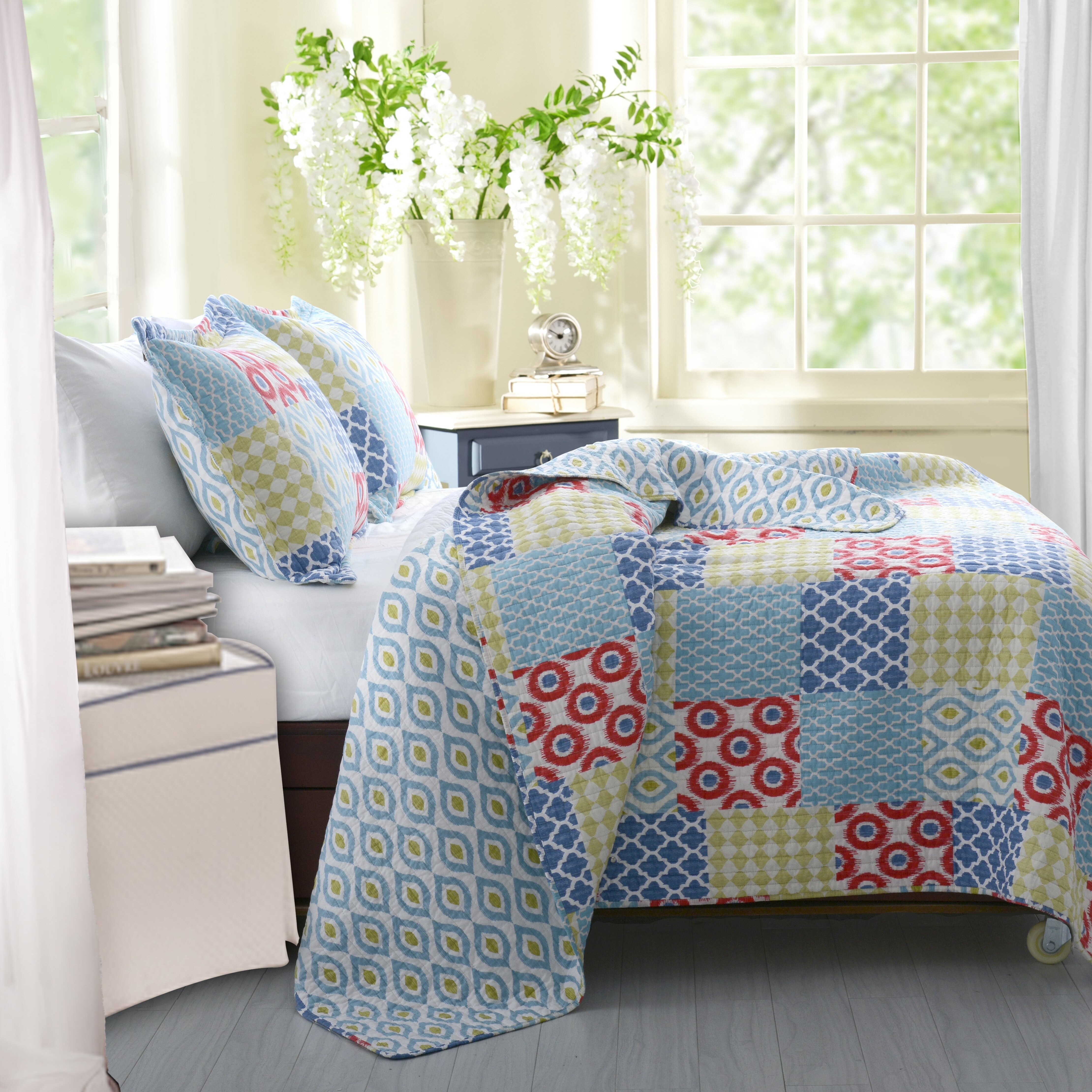 Greenland Home Fashions Kendall Reversible Quilt Set