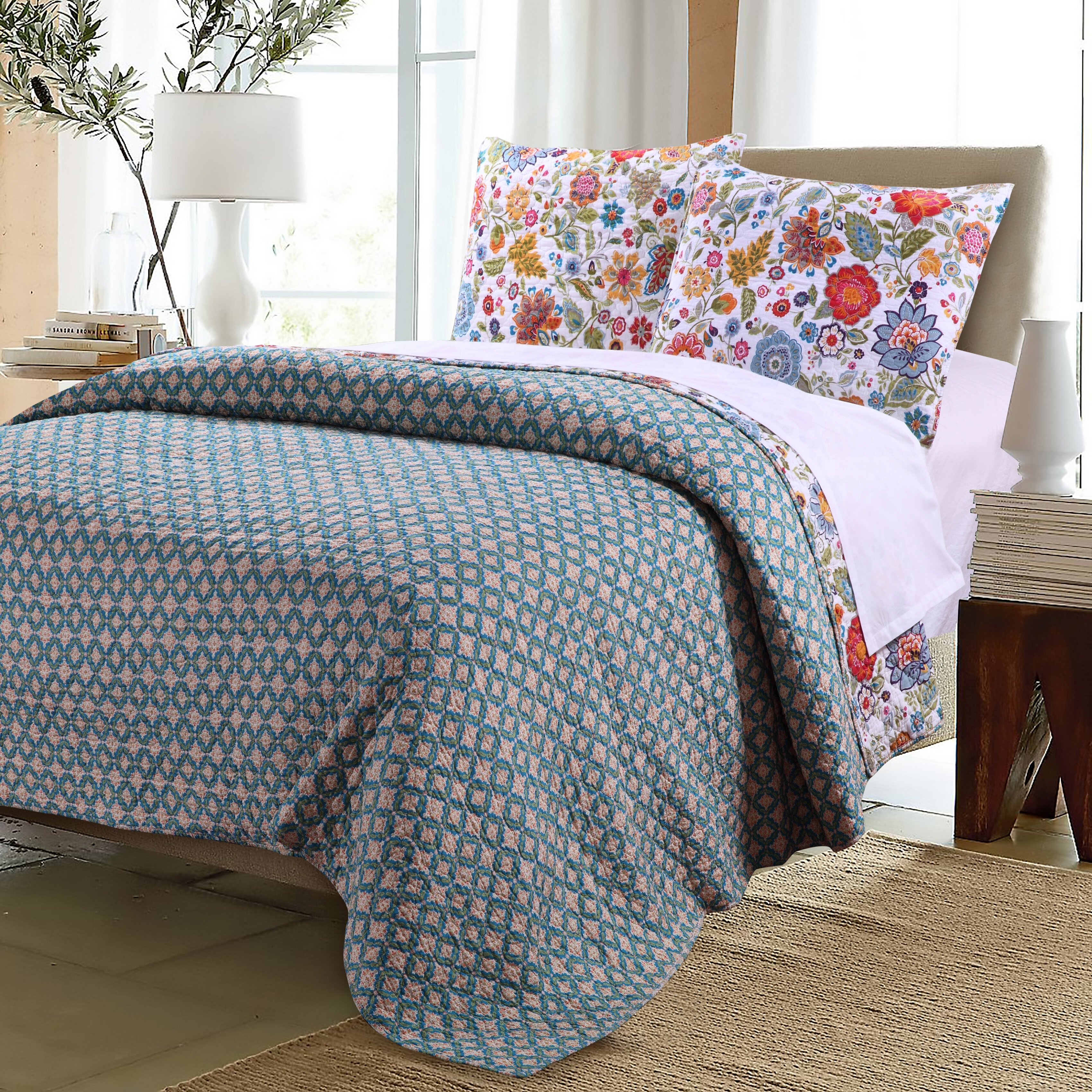 Greenland Home Fashions Astoria Reversible Quilt Set