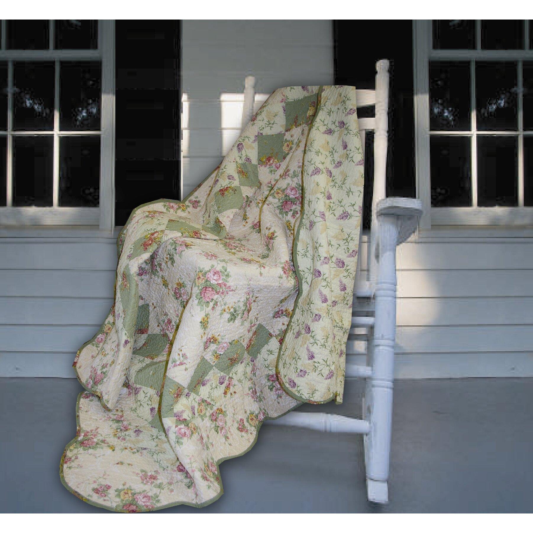 Greenland Home Fashions Bliss Cotton Throw Reviews Wayfair