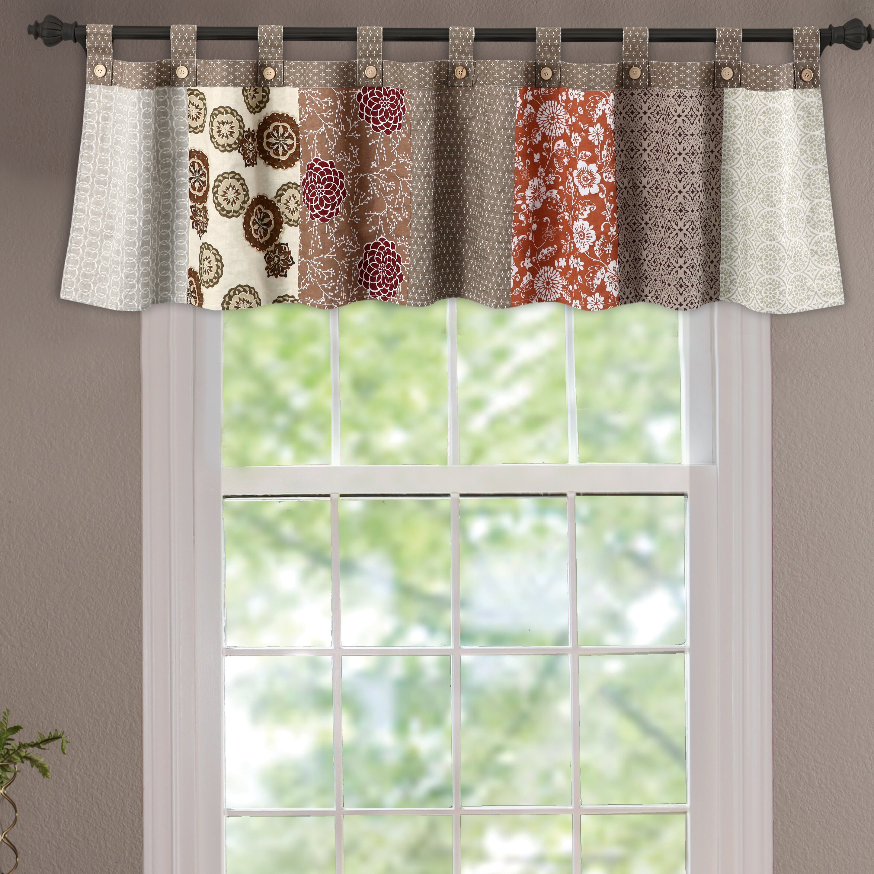 Greenland Home Fashions Stella Tab Top Tailored 84 Curtain Valance Reviews Wayfair