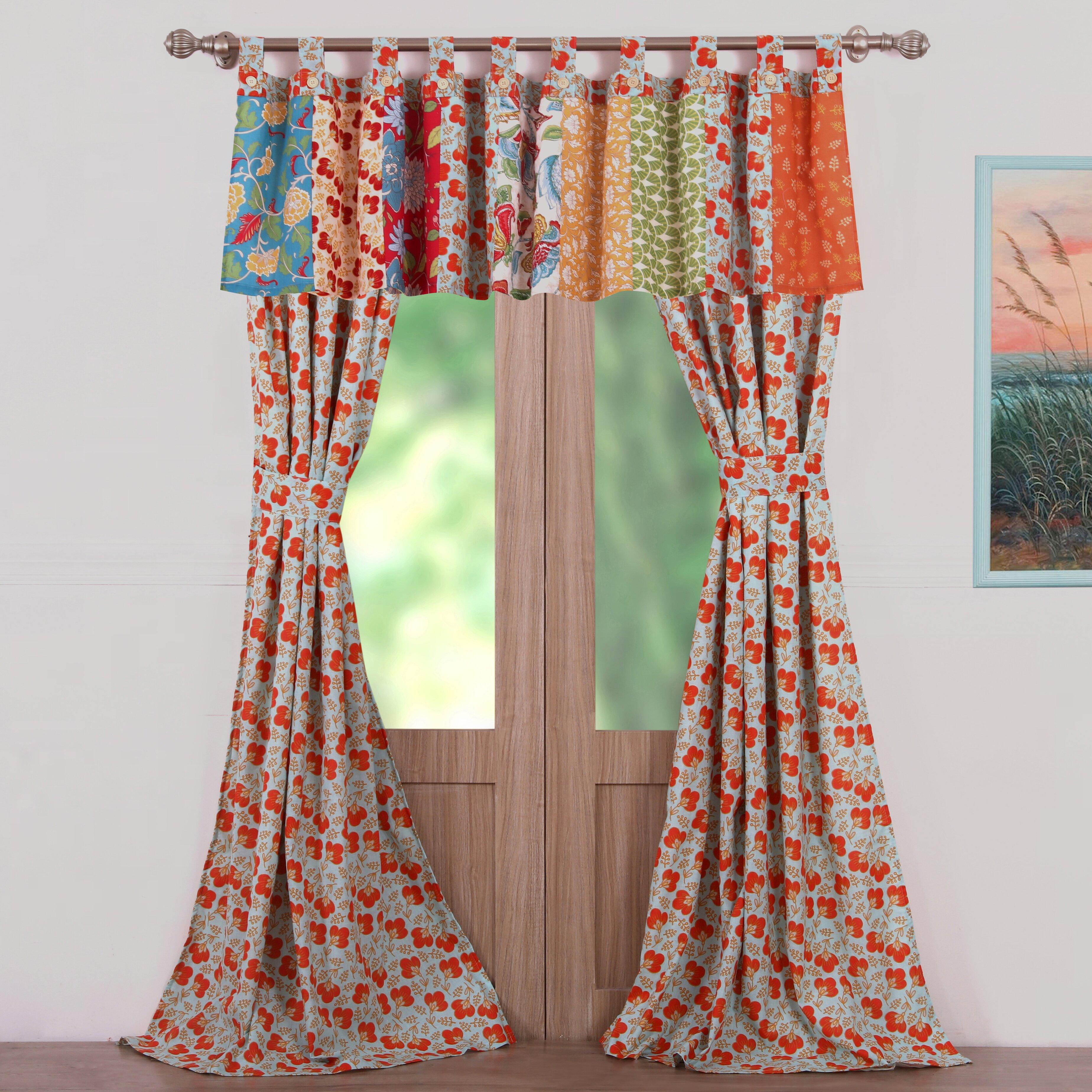 Greenland Home Fashions Terra Blossom Curtain Panel